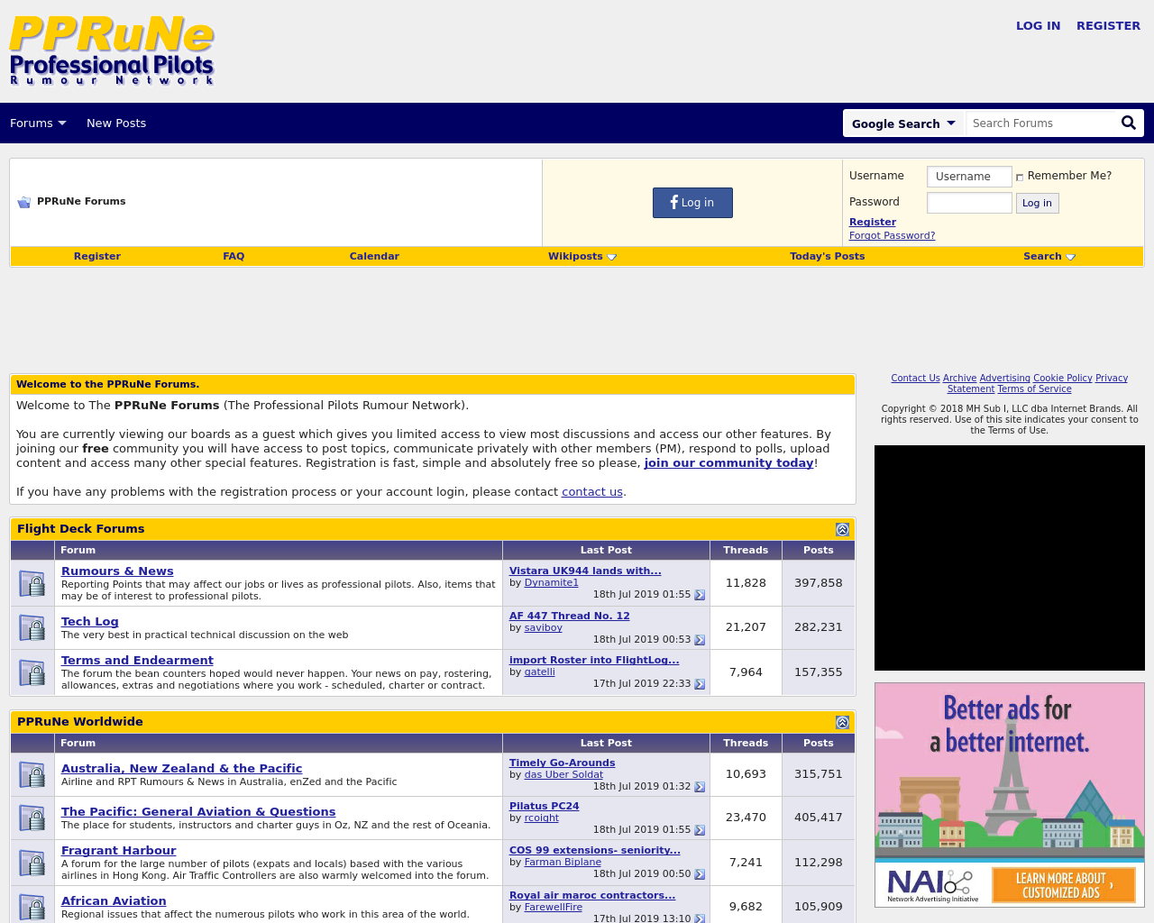 PPRuNe Advertising Mediakits, Reviews, Pricing, Traffic, Rate Card Cost