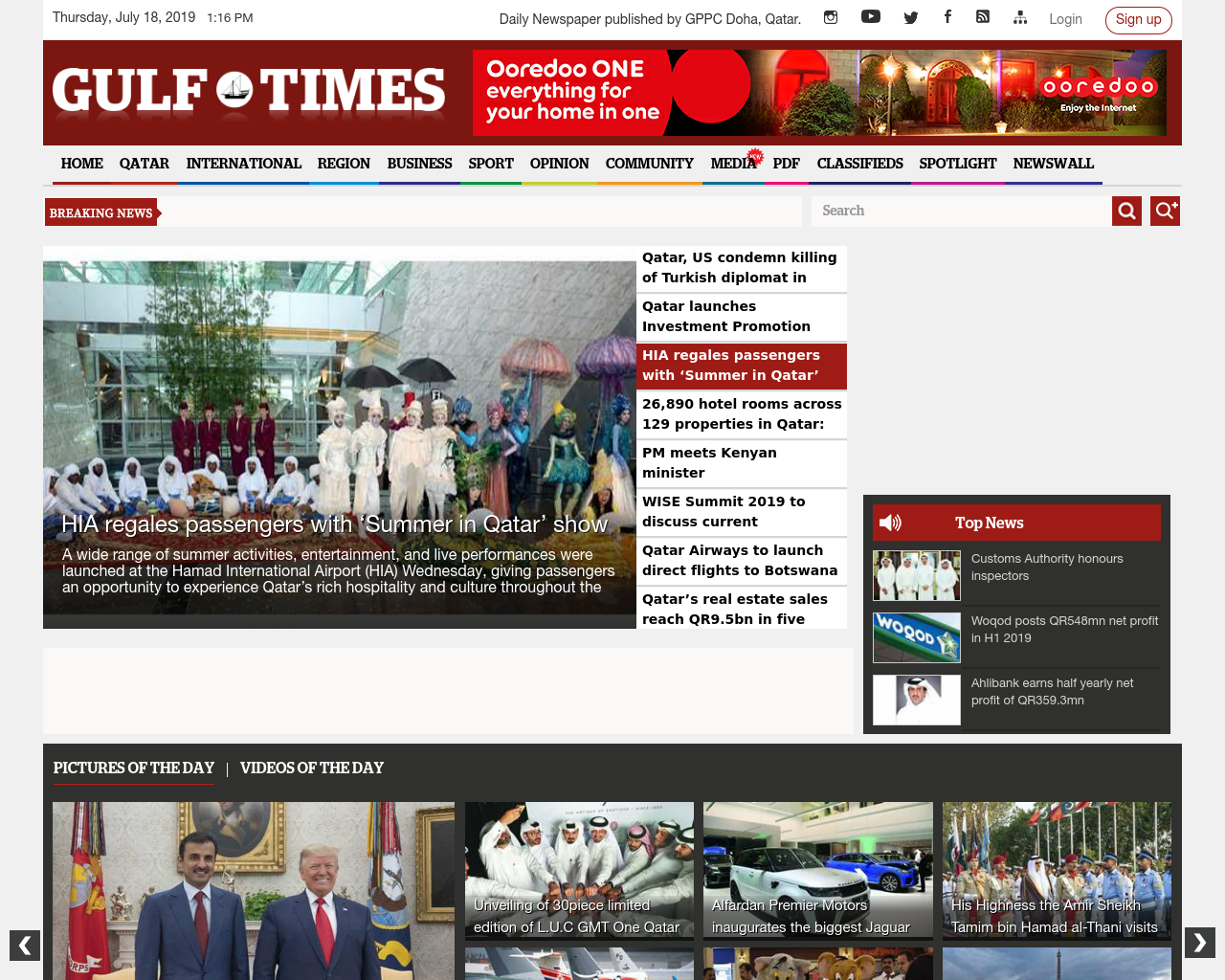 Gulf Times Advertising Mediakits, Reviews, Pricing, Traffic, Rate