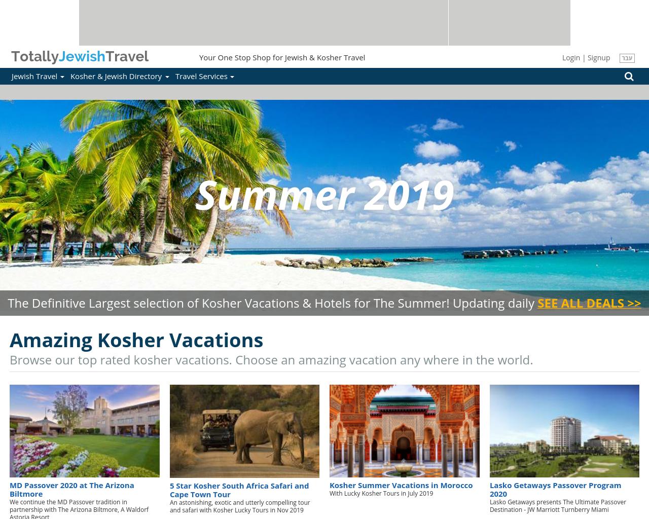 Totally Jewish Travel Advertising Mediakits, Reviews, Pricing