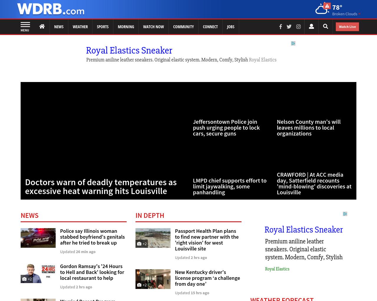 WDRB com Advertising Mediakits, Reviews, Pricing, Traffic