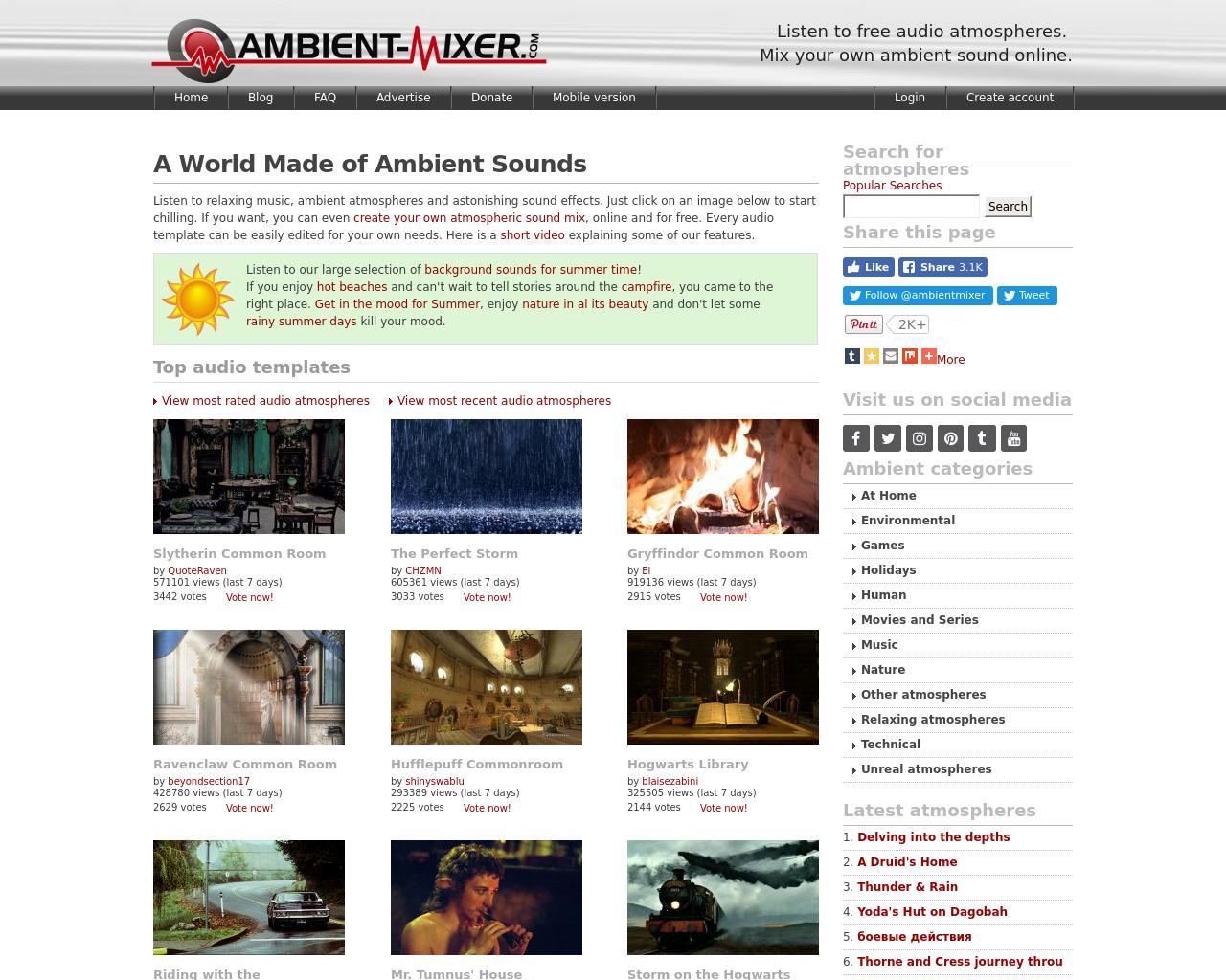 Ambient Mixer ambient-mixer advertising mediakits, reviews, pricing