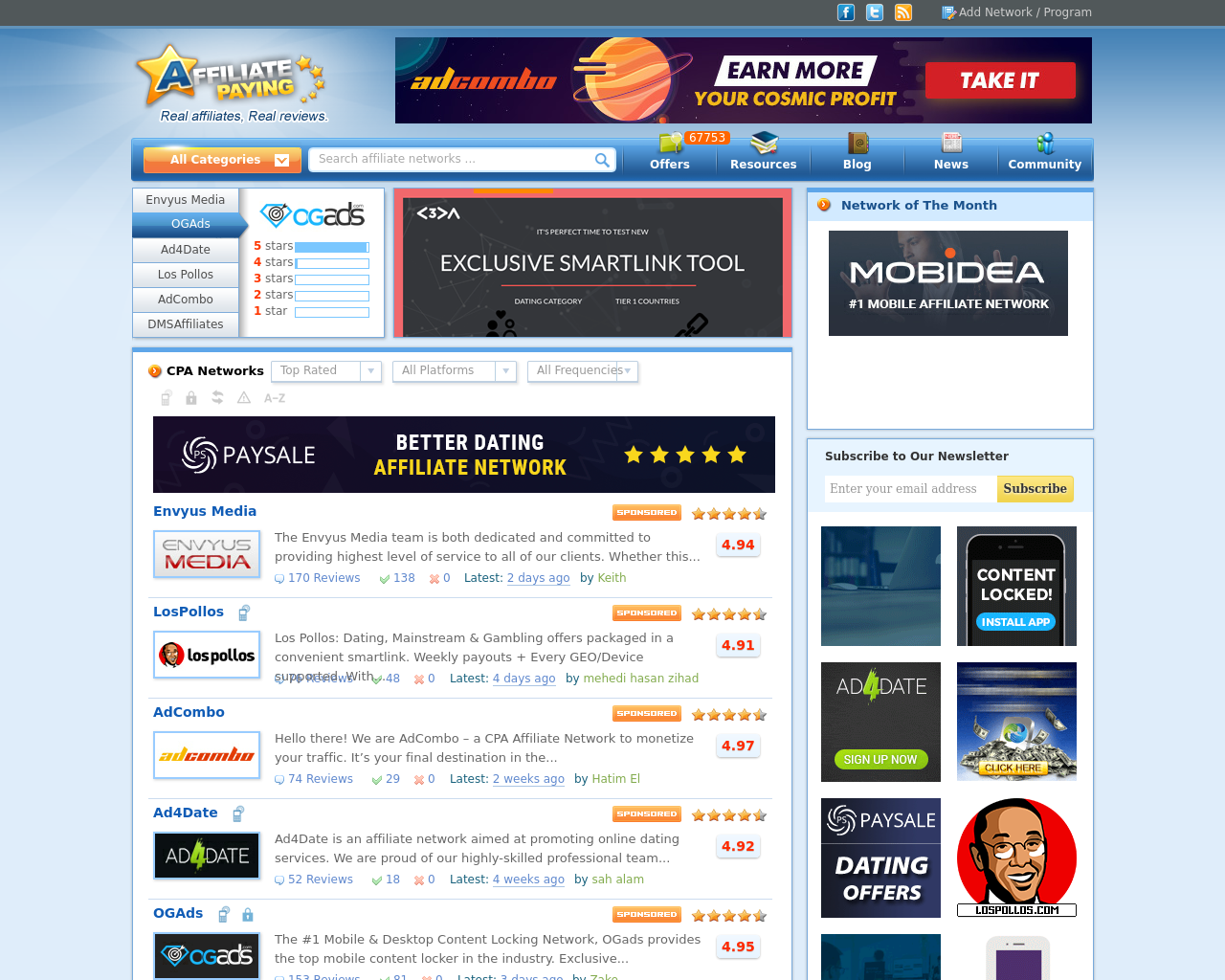 Affpaying com Advertising Mediakits, Reviews, Pricing, Traffic, Rate