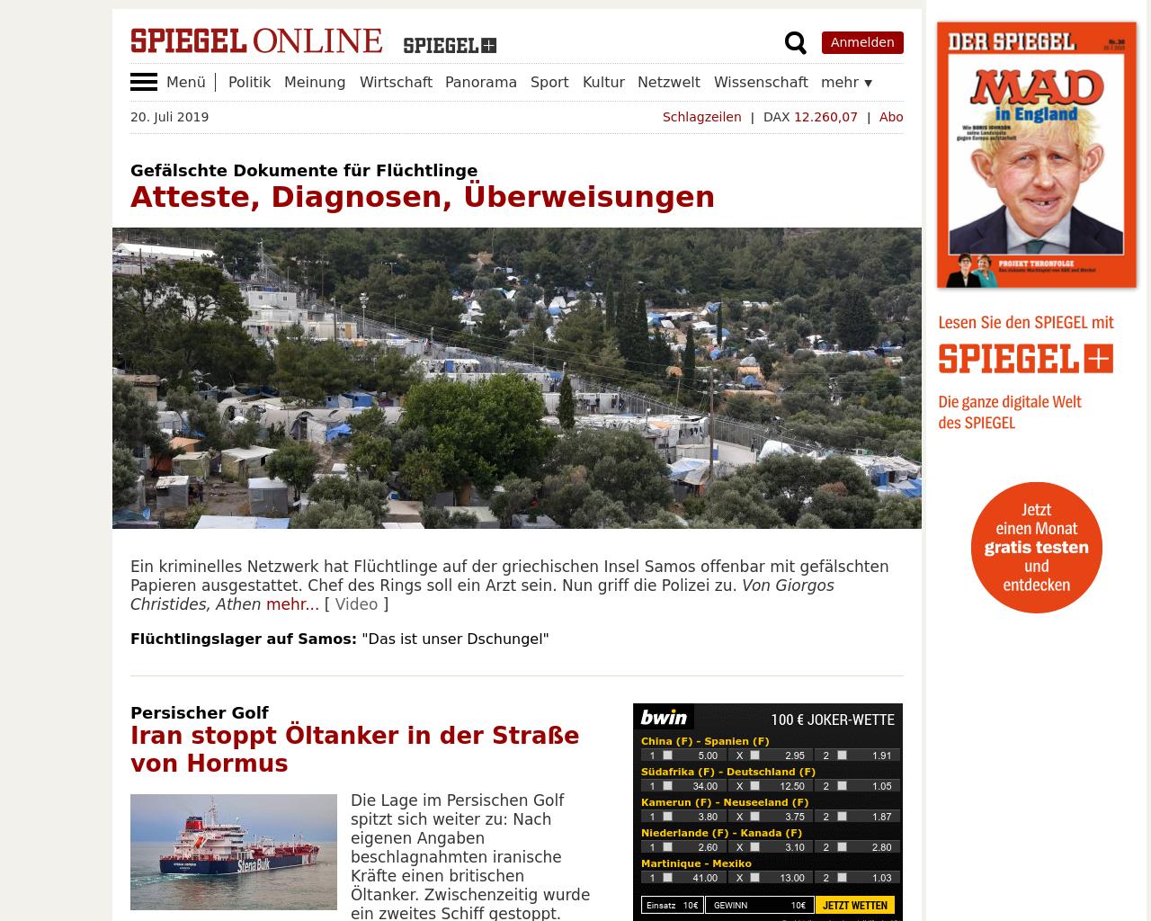Spiegel Online Schlagzeile