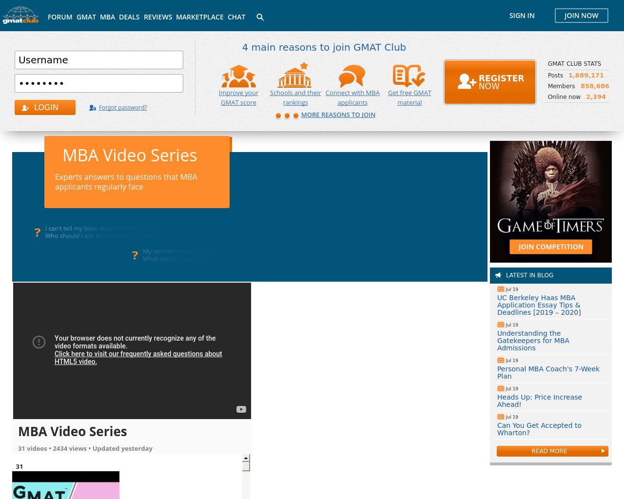 GMAT Club Advertising Mediakits, Reviews, Pricing, Traffic