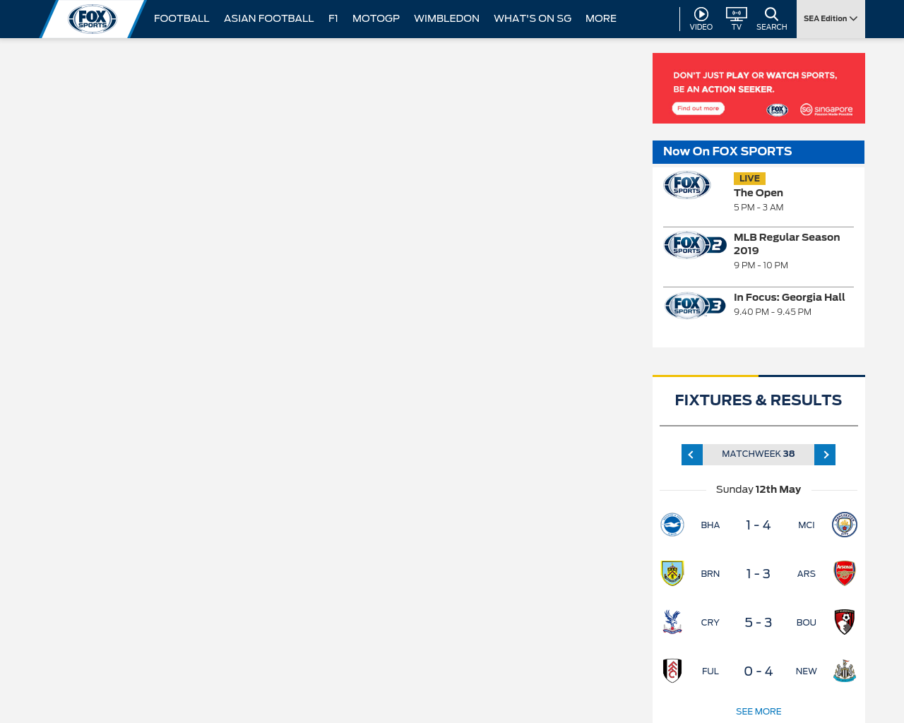 Fox Sports Asia Advertising Mediakits, Reviews, Pricing, Traffic