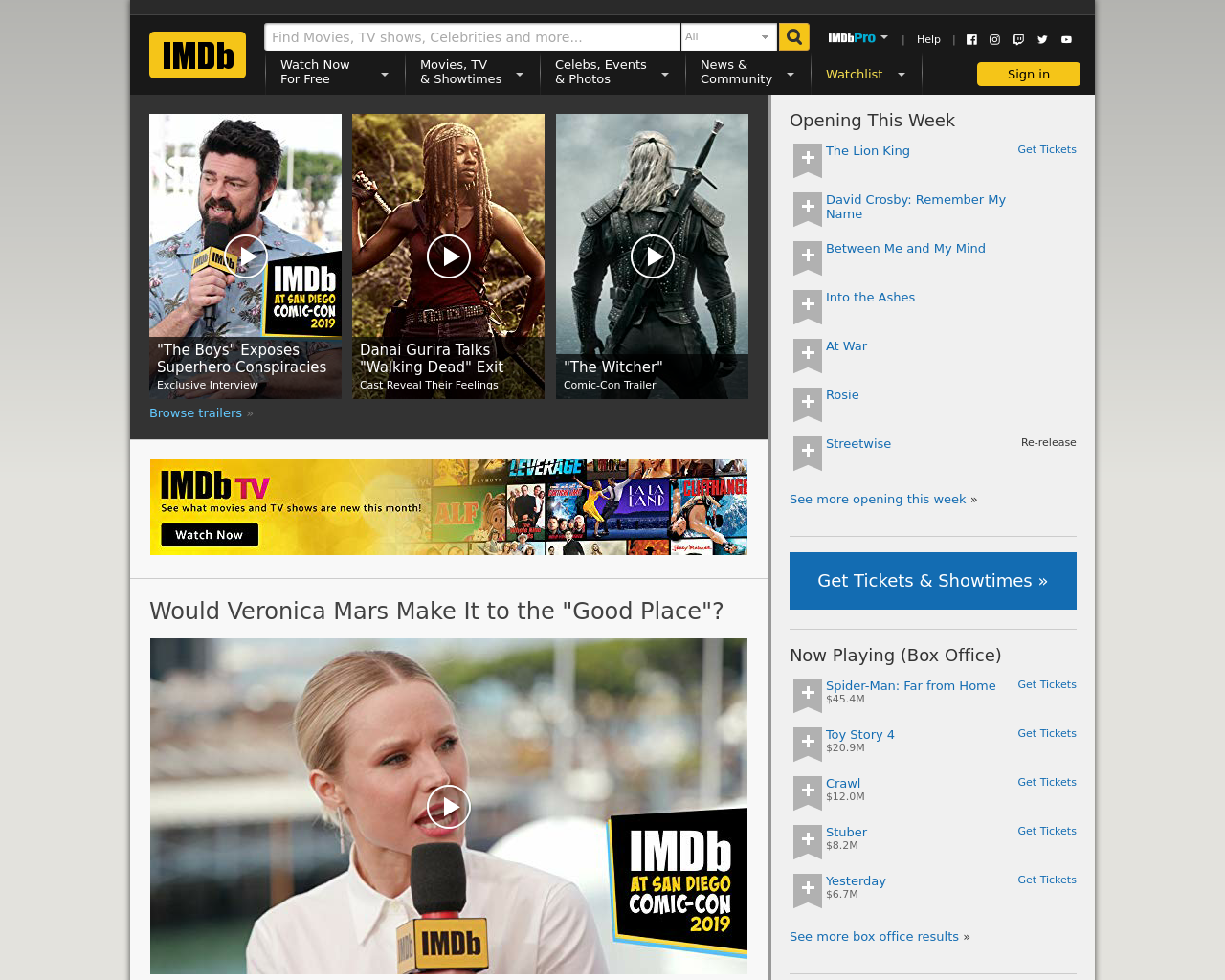 Imdb Advertising Mediakits, Reviews, Pricing, Traffic, Rate