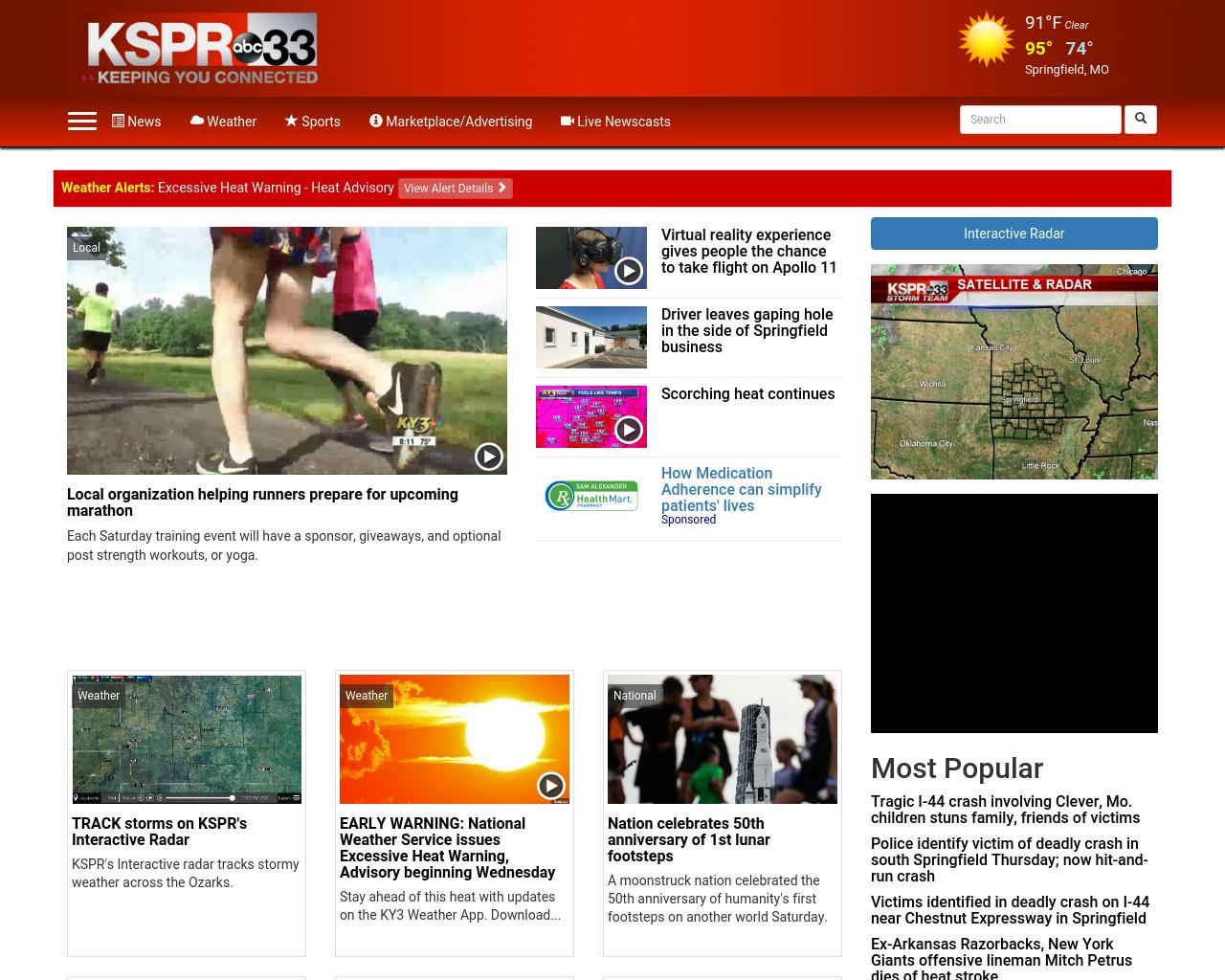 KSPR 33 Advertising Mediakits, Reviews, Pricing, Traffic