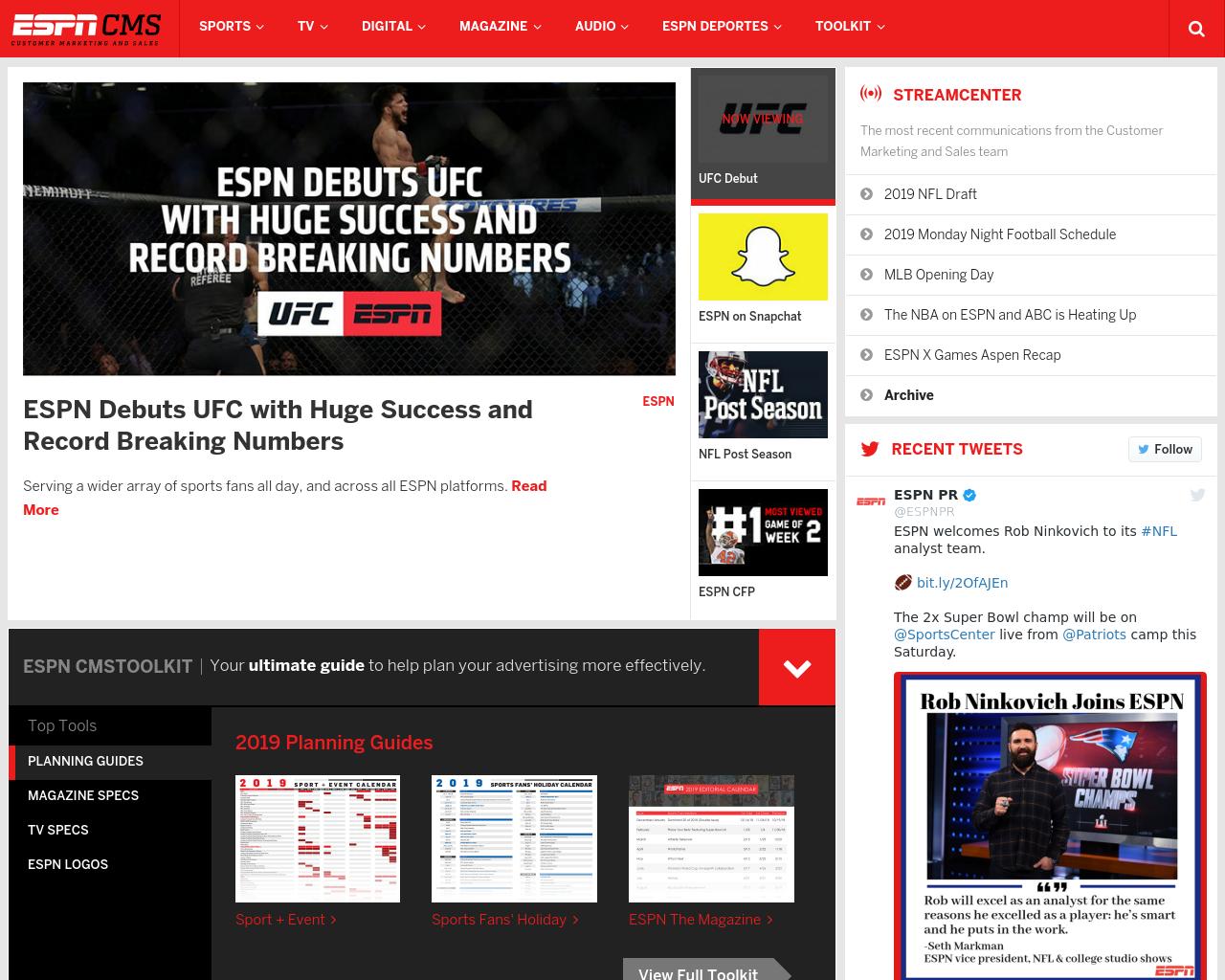 ESPN Media Advertising Mediakits, Reviews, Pricing, Traffic, Rate