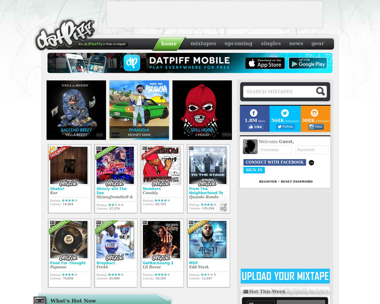 datPiff Advertising Mediakits, Reviews, Pricing, Traffic