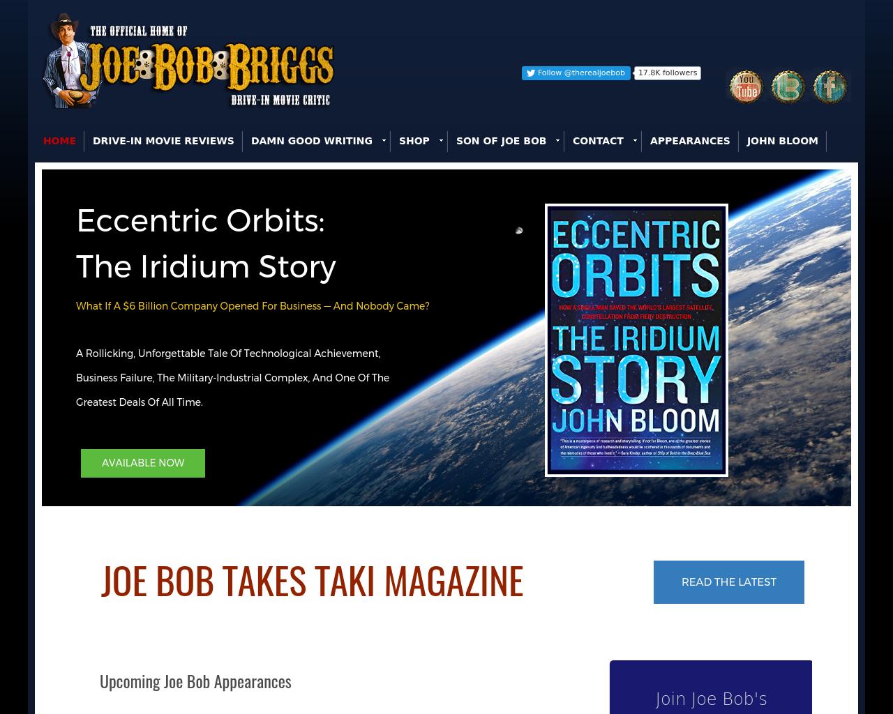 Joe-Bob-Briggs-Advertising-Reviews-Pricing