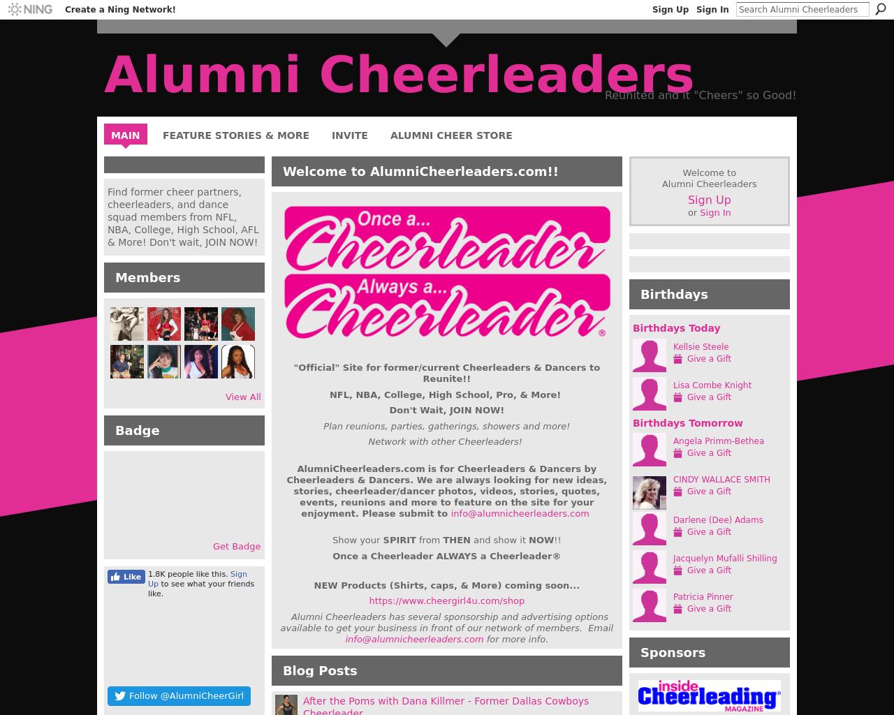 Alumnicheerleaders.com-Advertising-Reviews-Pricing