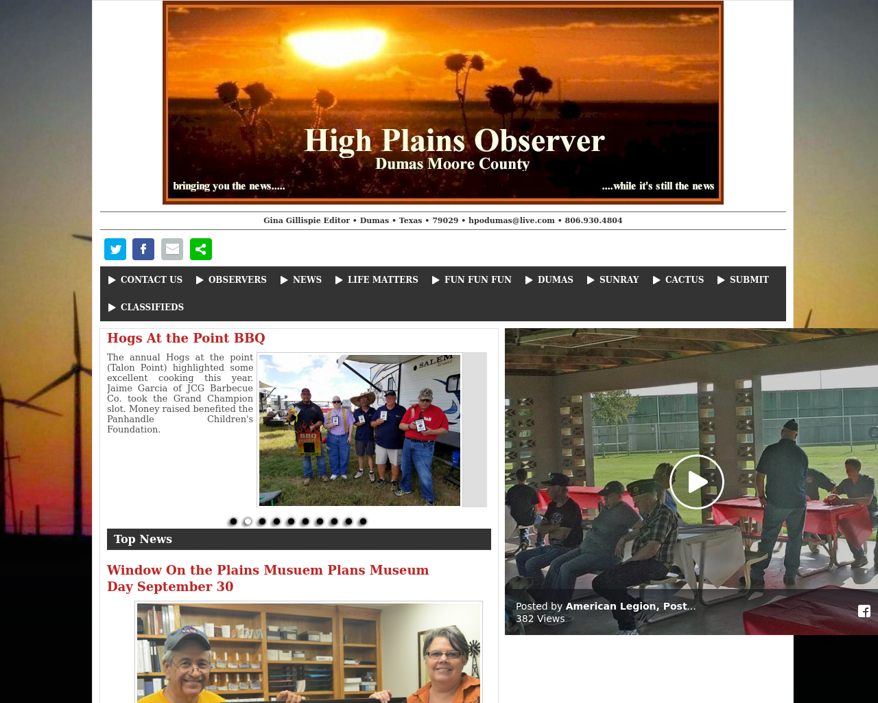 High-Plains-Observer-Dumas-Moore-County-Advertising-Reviews-Pricing