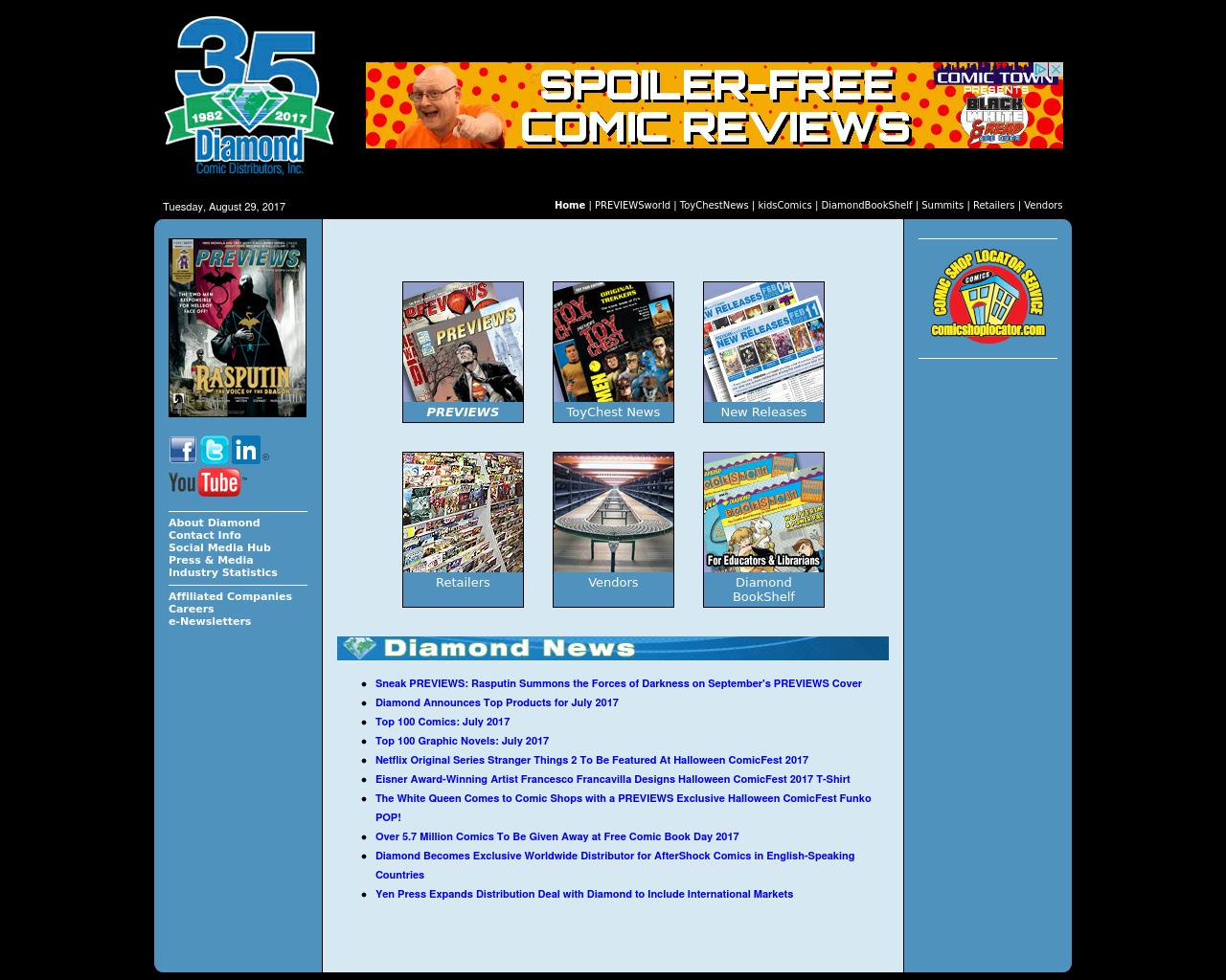 Diamond-Comic-Distributors,-Inc.-Advertising-Reviews-Pricing