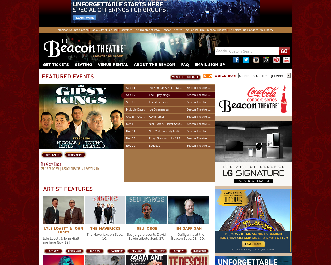 BeaconTheatre.com-Advertising-Reviews-Pricing