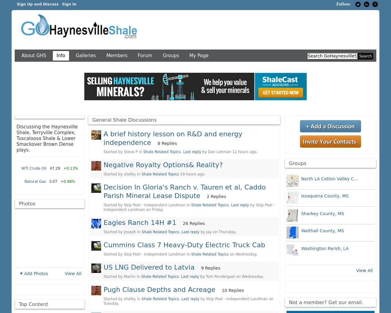 GoHaynesvilleShale.com-Advertising-Reviews-Pricing