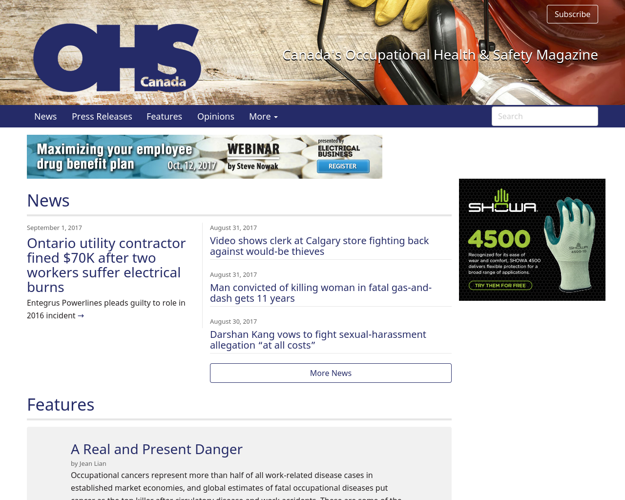 OHS-Canada's-Occupational-Health-&-Safety-Magazine-Advertising-Reviews-Pricing