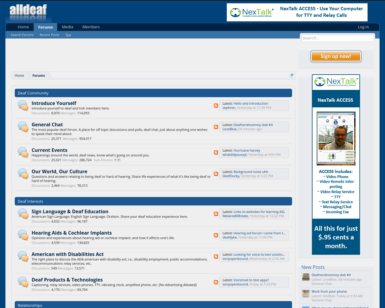 All Deaf Advertising Mediakits, Reviews, Pricing, Traffic