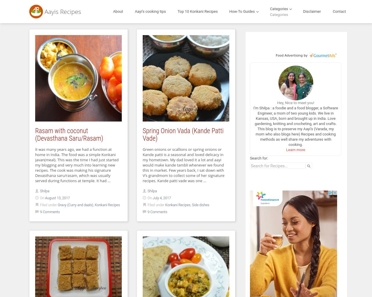 Aayi's-Recipes-Advertising-Reviews-Pricing