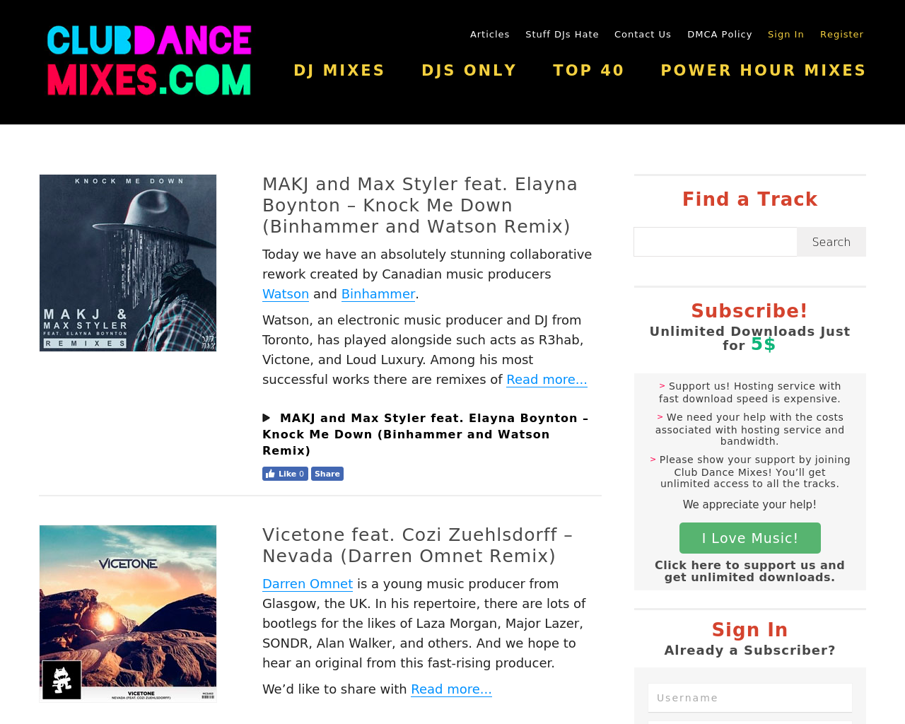 Club-Dance-Mixes-Advertising-Reviews-Pricing
