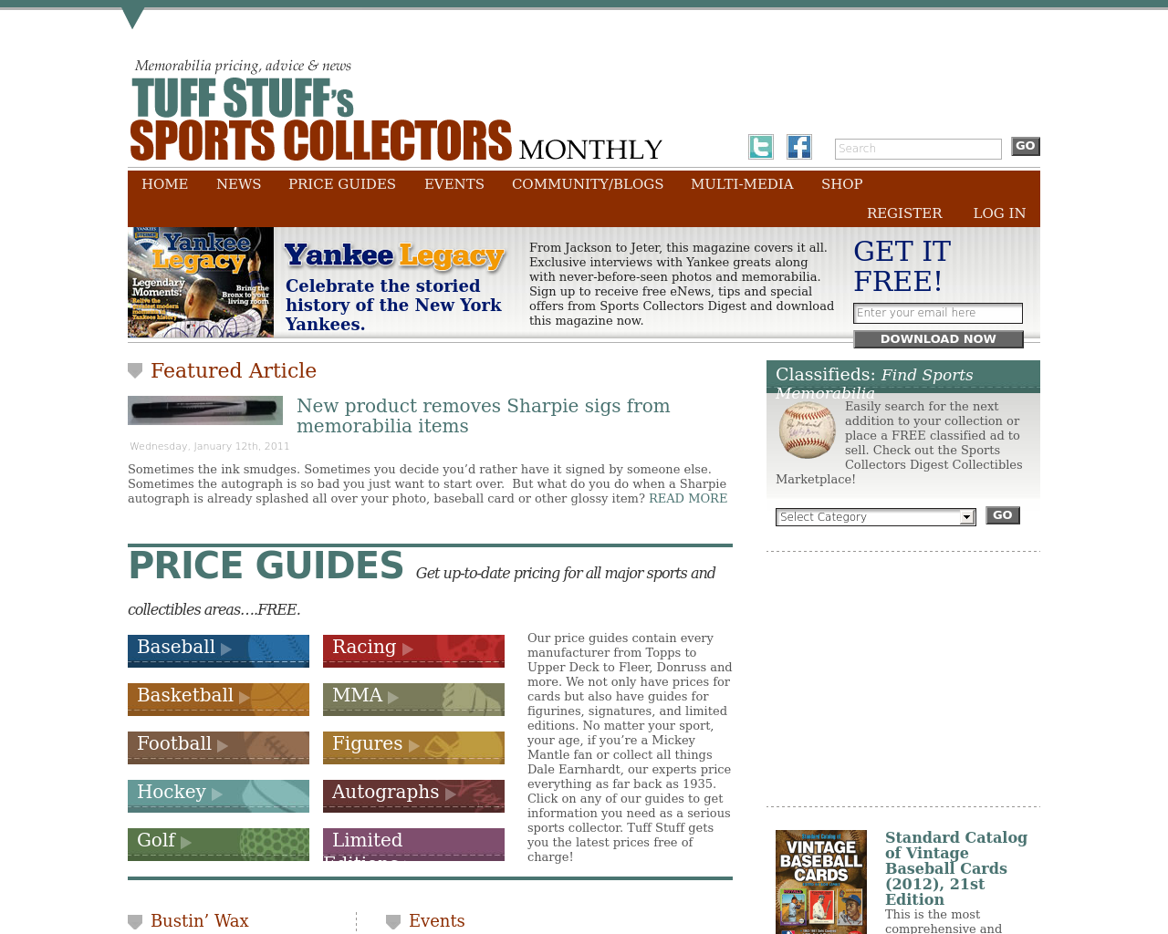 Tuff-Stuff's-Sports-Collectors-Monthly-Advertising-Reviews-Pricing