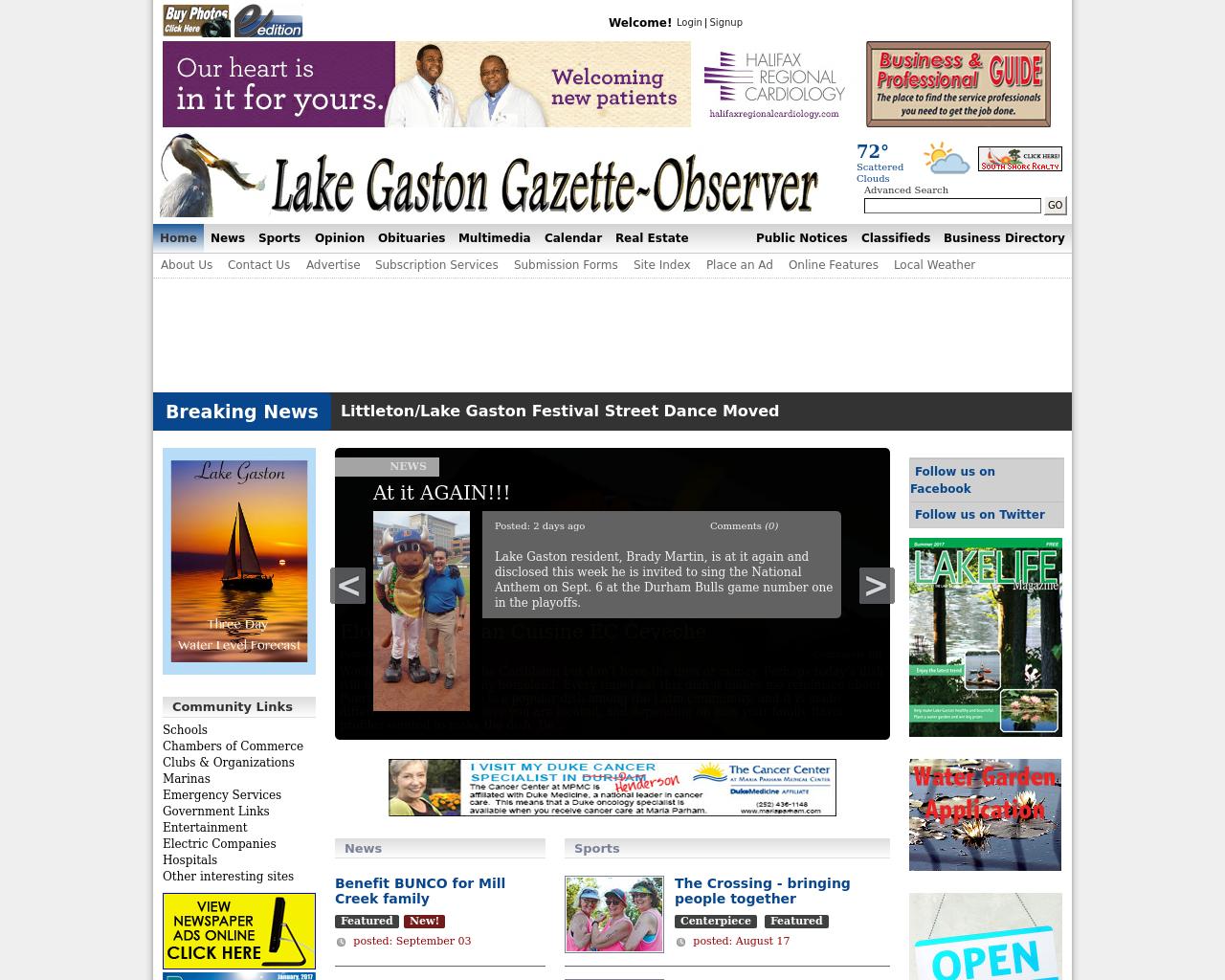Lake-gaston-gazette-observer-Advertising-Reviews-Pricing