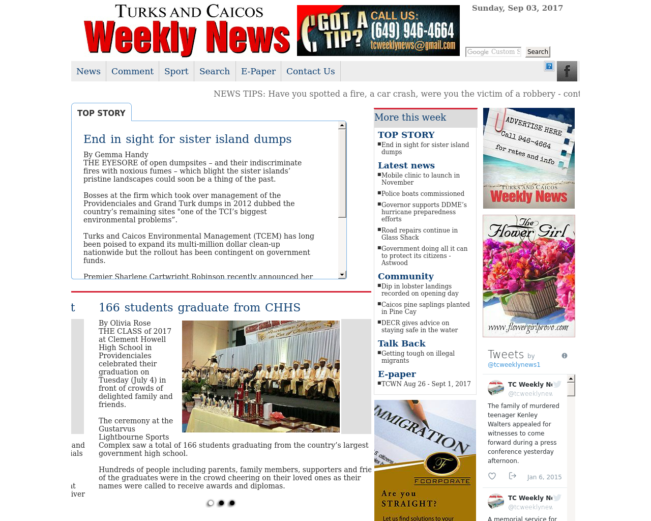 TURKS-AND-CAICOS-Weekly-News-Advertising-Reviews-Pricing