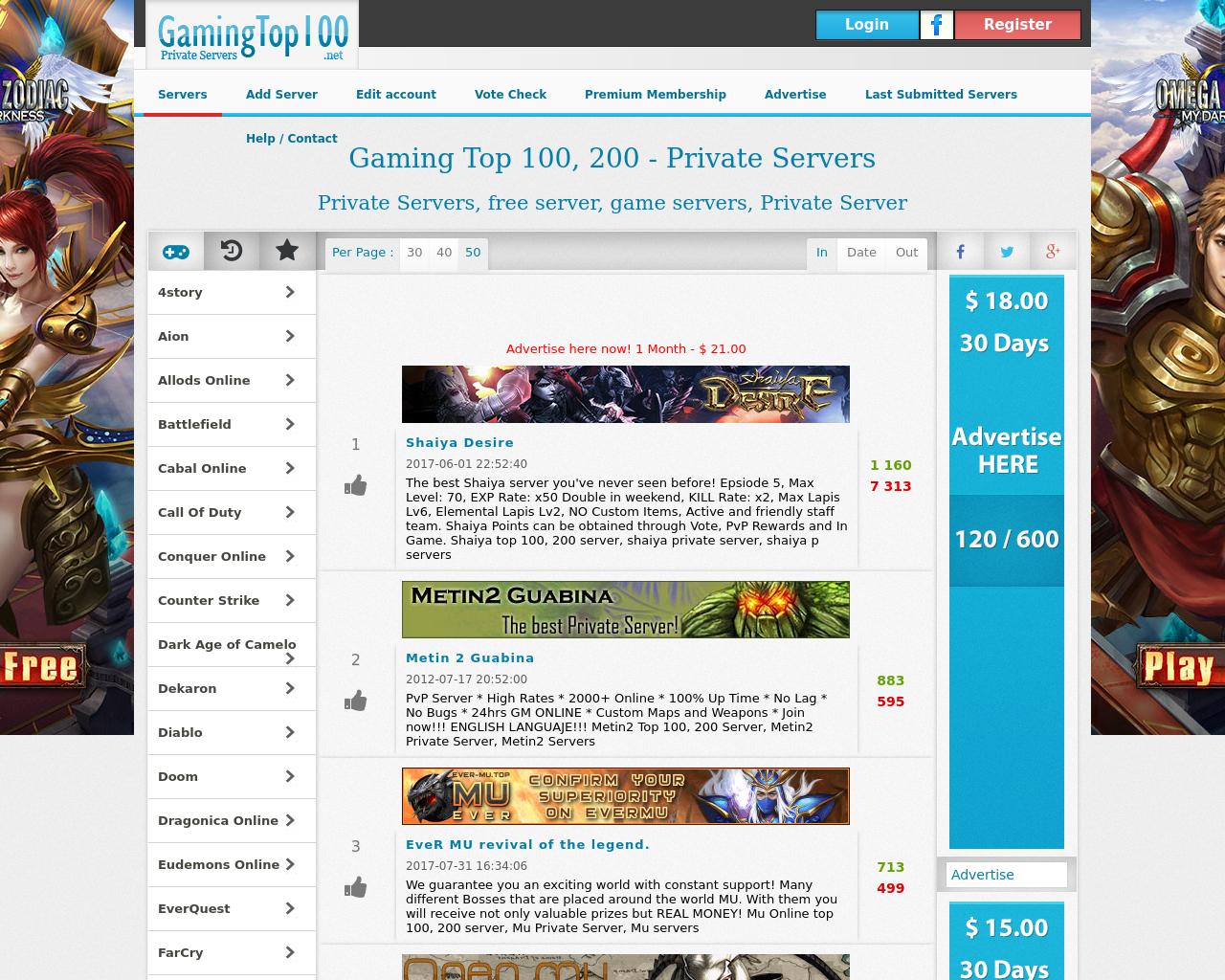 Gaming-Top-100-Advertising-Reviews-Pricing