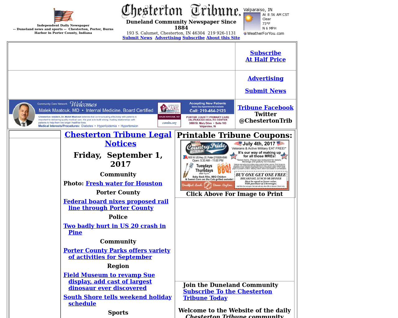 Chesterton-Tribune-Advertising-Reviews-Pricing