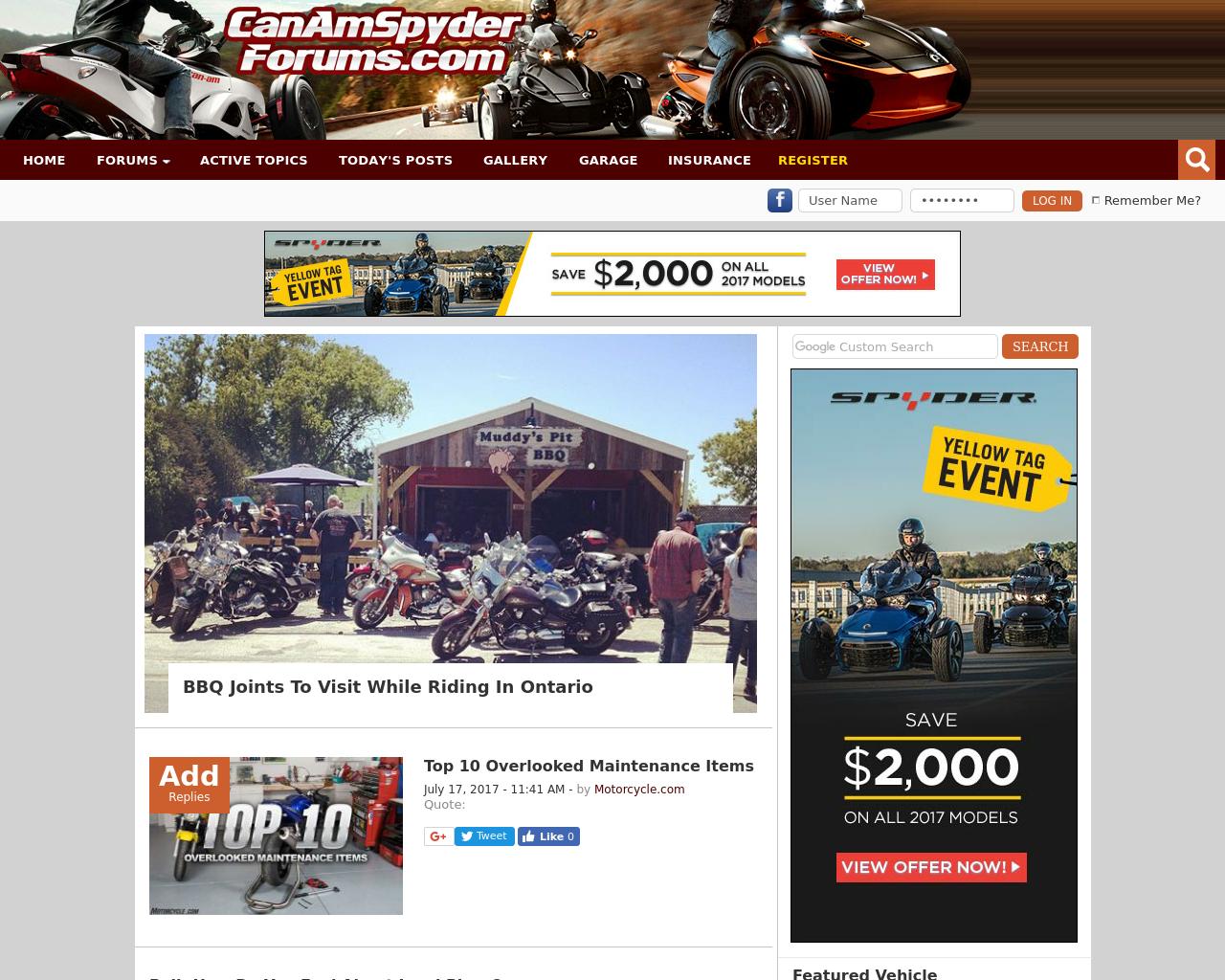 CanAmSpyderForums.com-Advertising-Reviews-Pricing