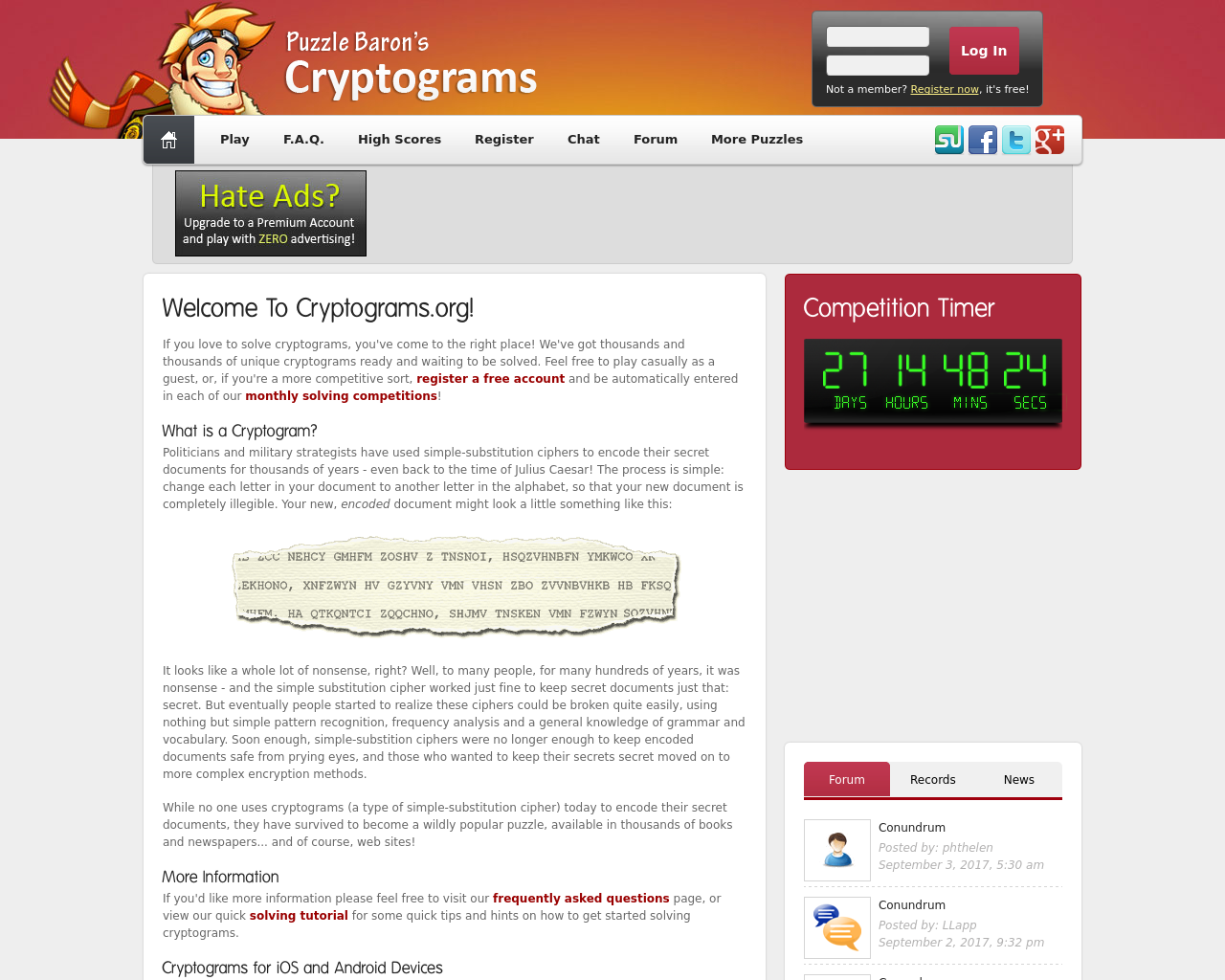 Puzzle-Baron's-Cryptogram-Advertising-Reviews-Pricing