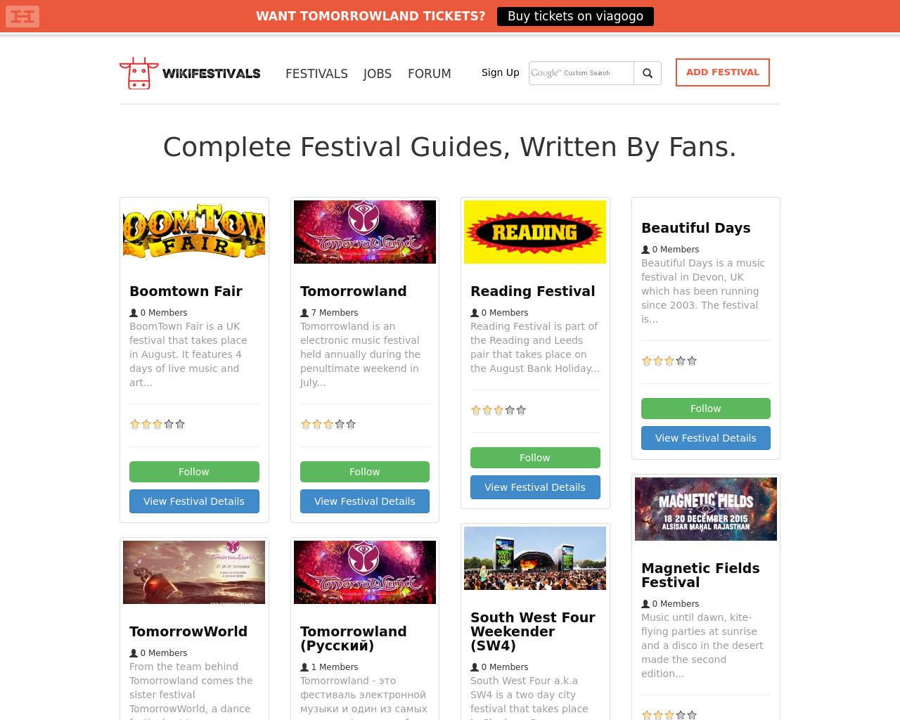 WIKI-Festivals-Advertising-Reviews-Pricing