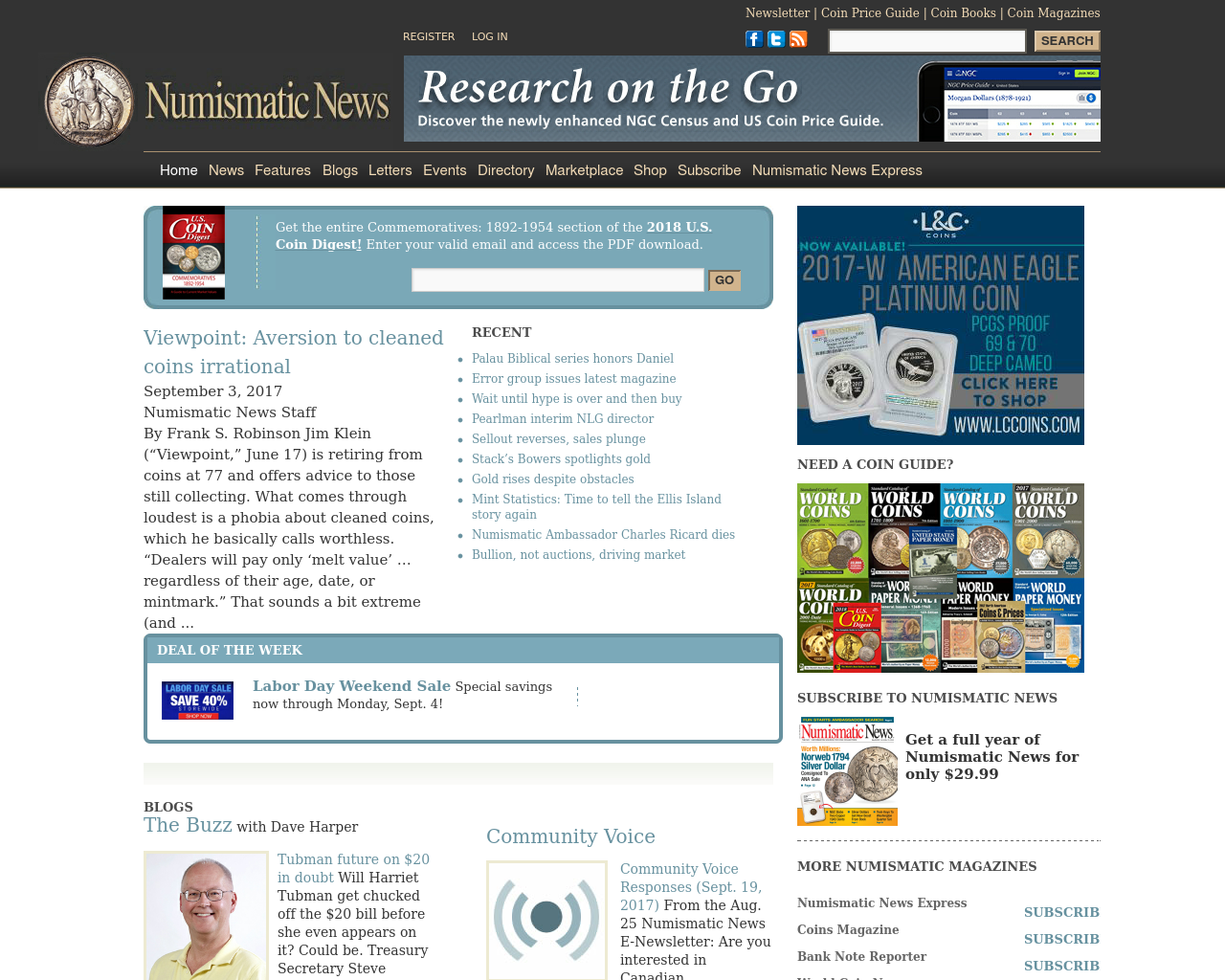 Numismatic-News-Advertising-Reviews-Pricing