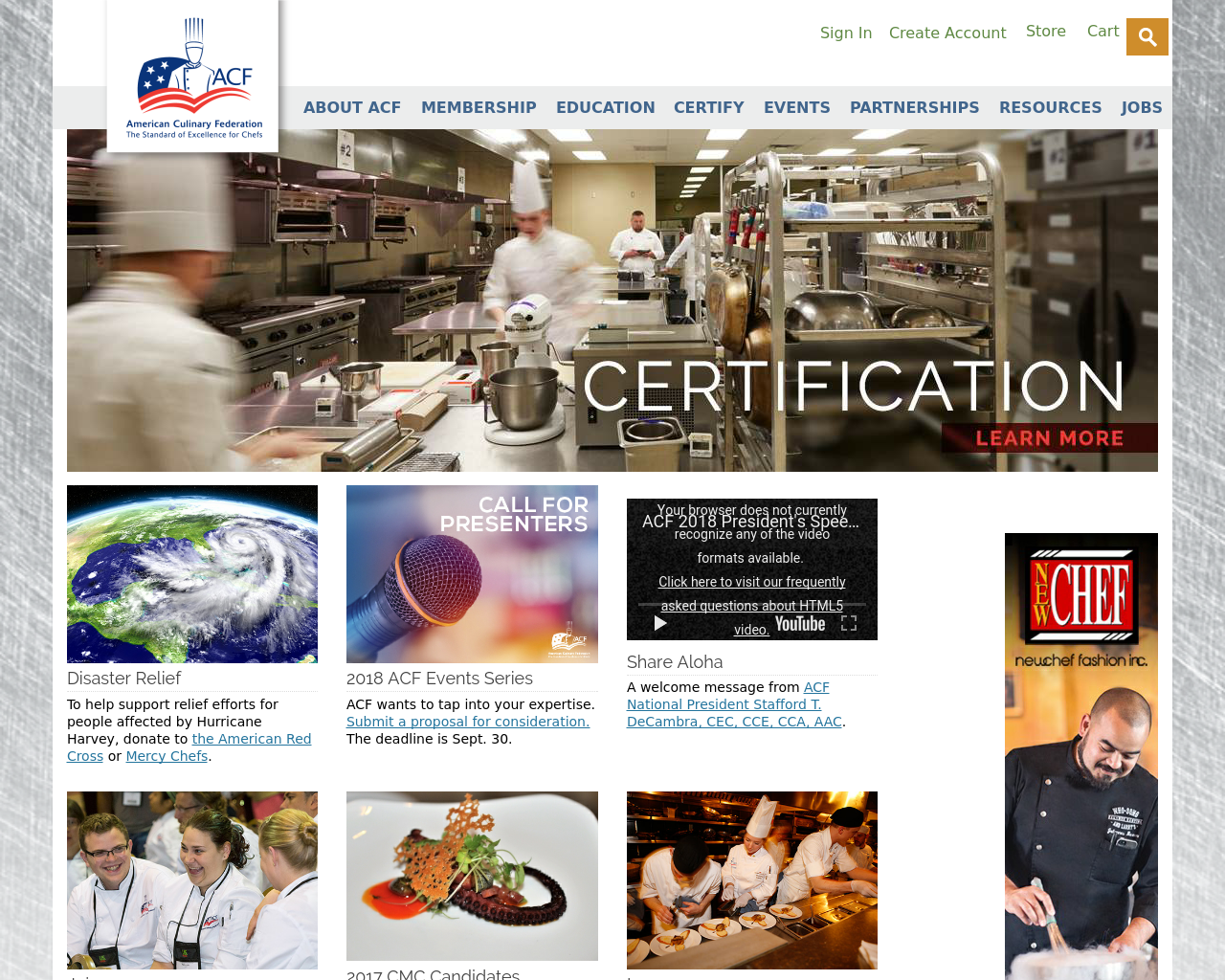 Acfchefs.org-Advertising-Reviews-Pricing