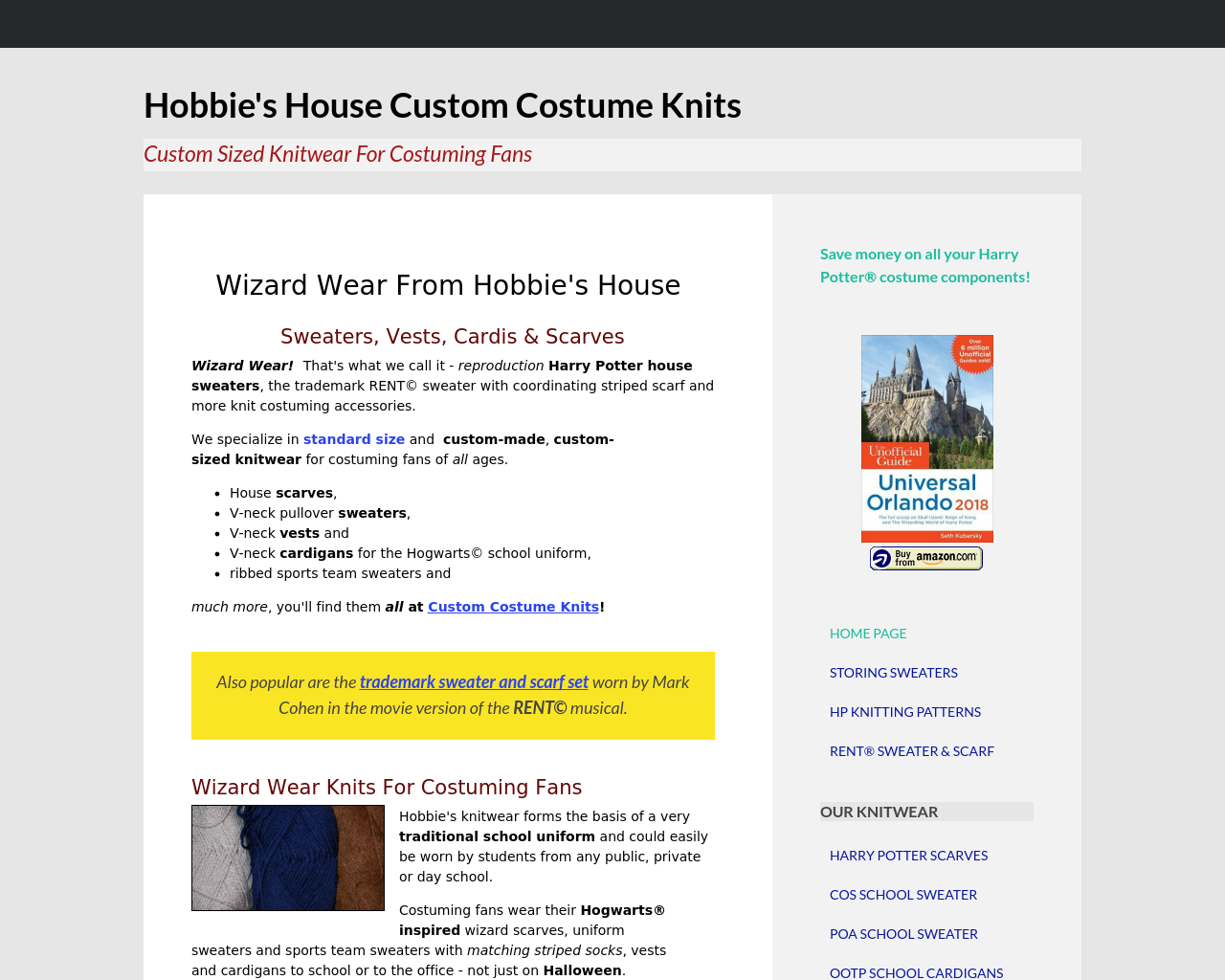 Hobbie's-House-Of-Wizard-Wear-Advertising-Reviews-Pricing