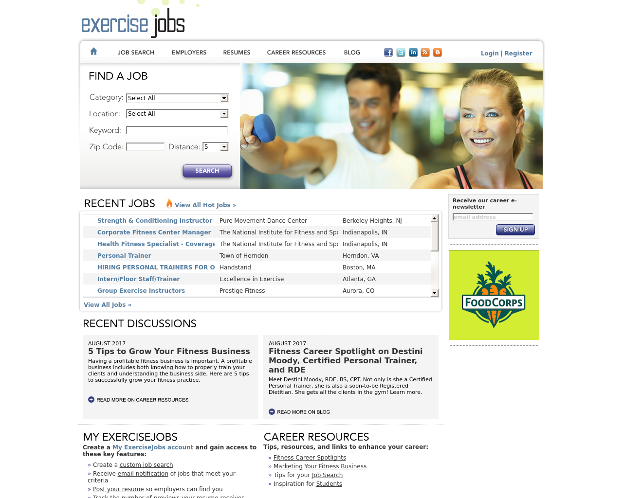 Exercise-Jobs-Advertising-Reviews-Pricing