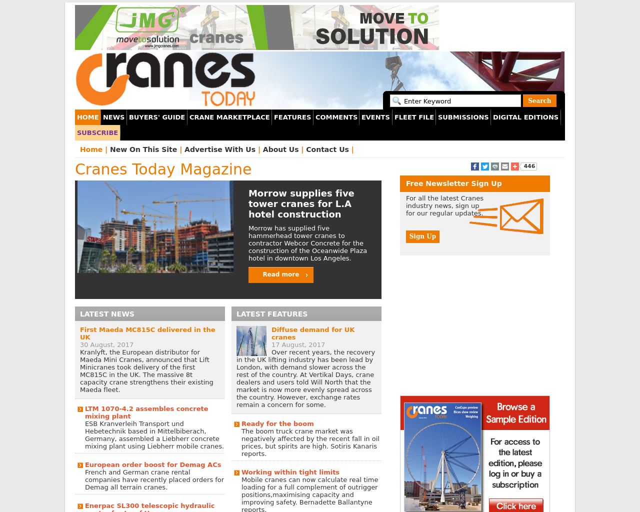 Cranes-Today-Advertising-Reviews-Pricing