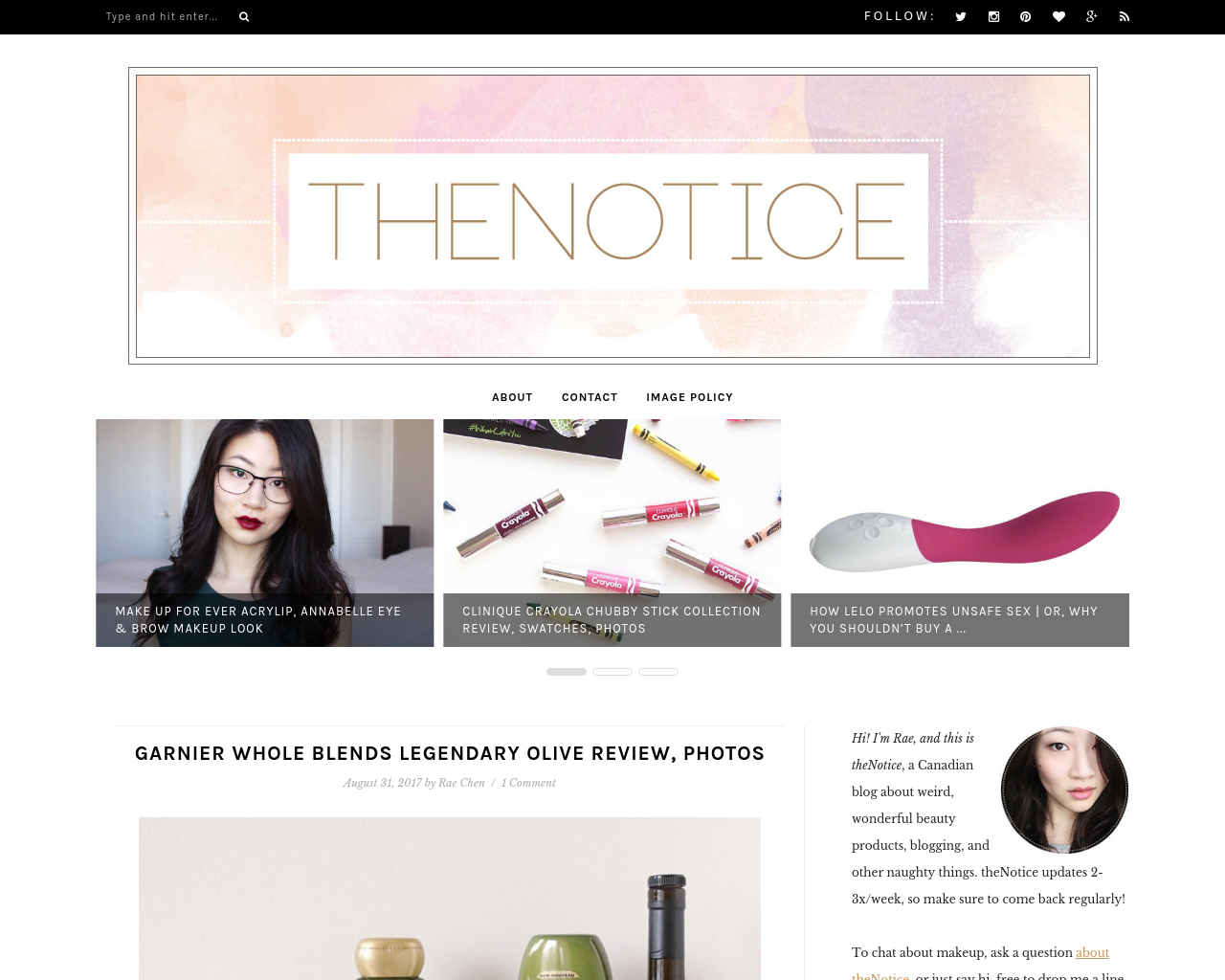 theNotice:-a-beauty-blog-Advertising-Reviews-Pricing