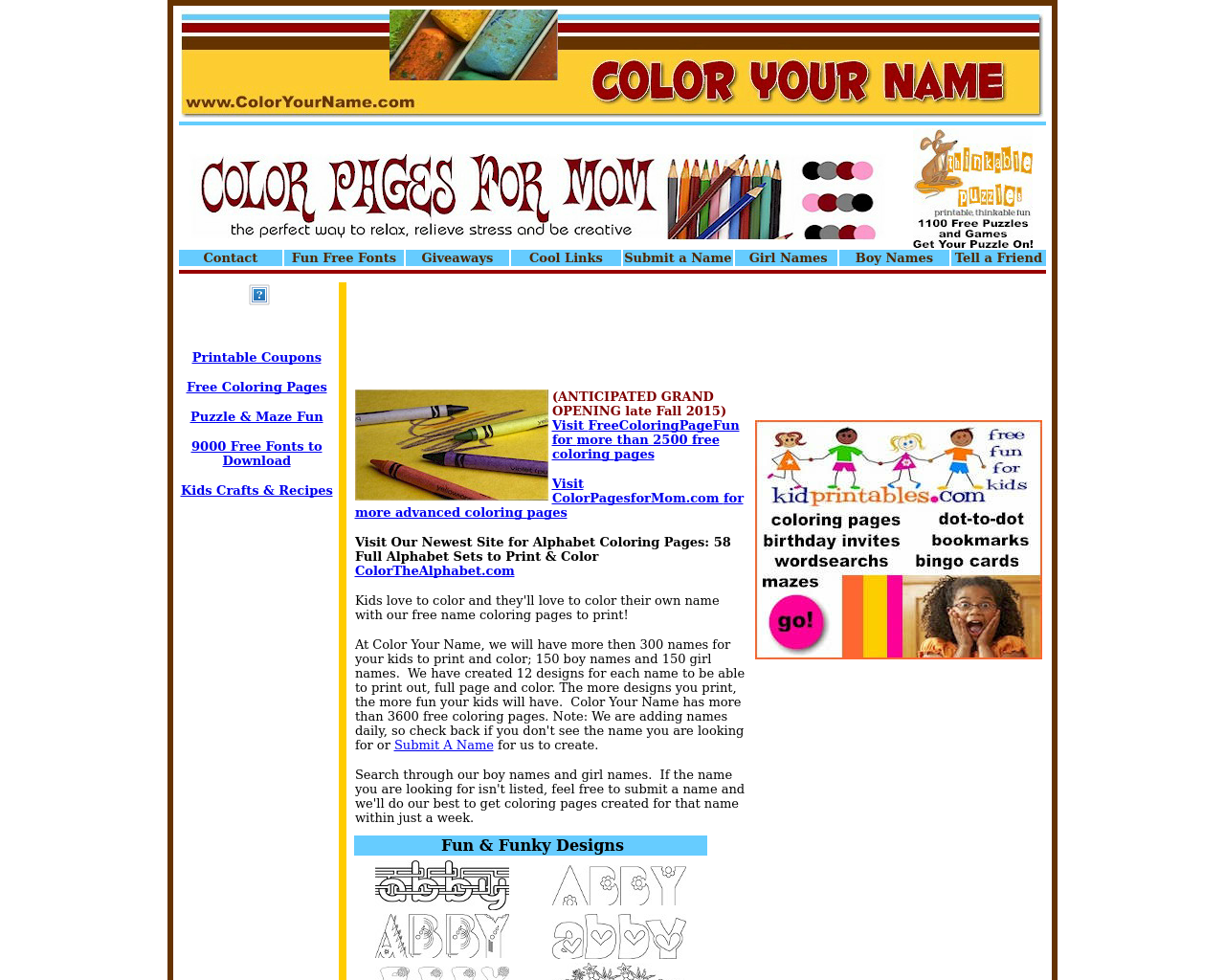 Coloryourname.com-Advertising-Reviews-Pricing