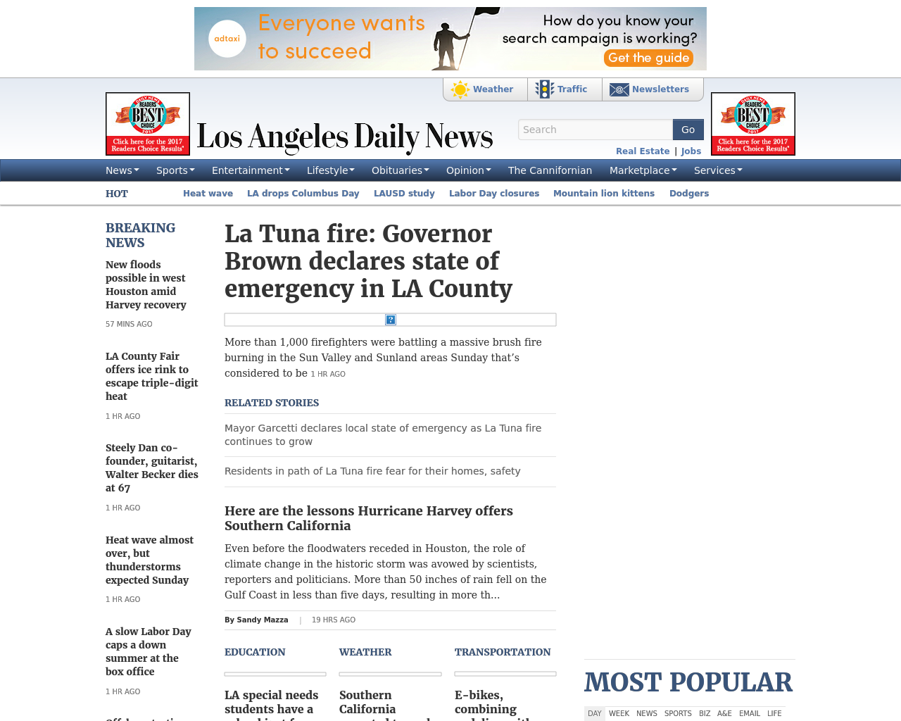 Los-Angeles-Daily-News-Advertising-Reviews-Pricing