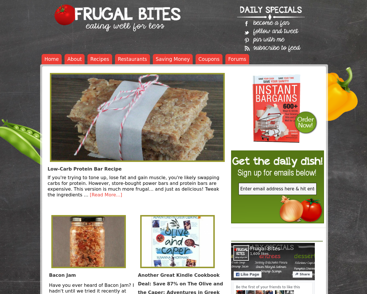 Frugal-Bites-Eating-well-for-less-Advertising-Reviews-Pricing