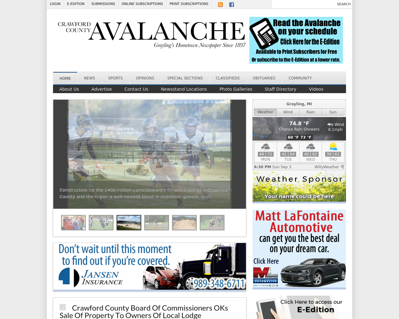 Crawford-County-Avalanche.com-Advertising-Reviews-Pricing