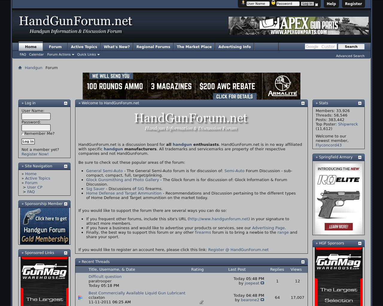 HandGunForum.net-Advertising-Reviews-Pricing