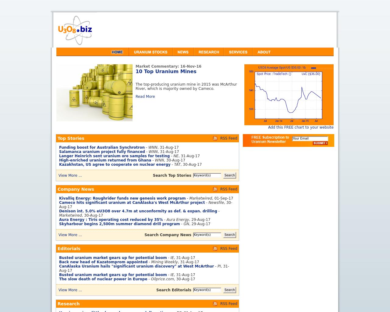U3O8.biz-Advertising-Reviews-Pricing