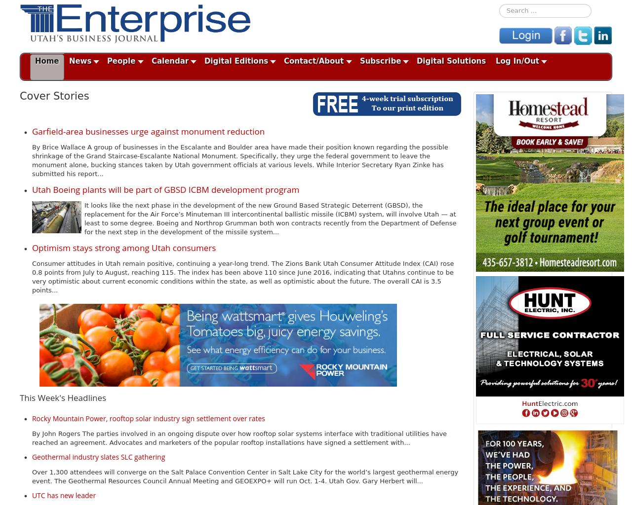 The Salt Lake Enterprise Advertising Mediakits Reviews Pricing