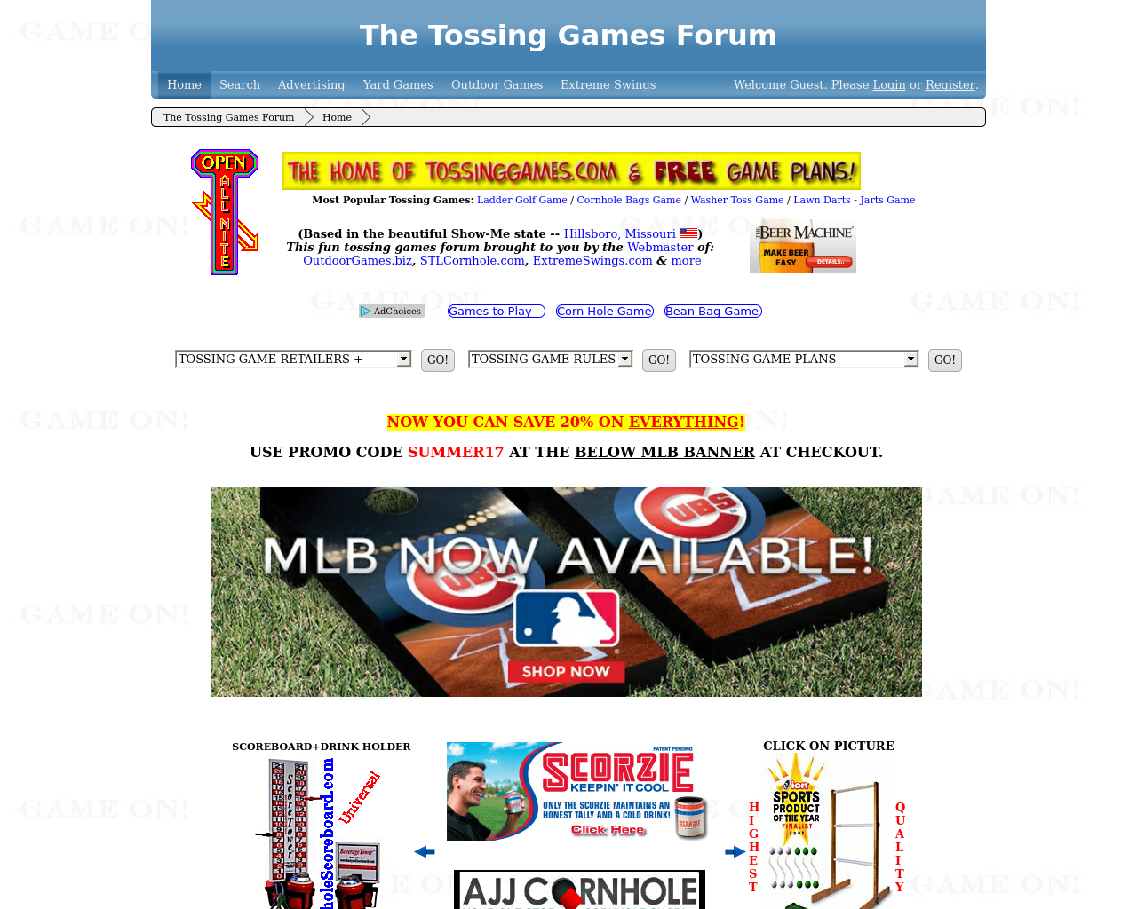 The-Tossing-Games-Forum-Advertising-Reviews-Pricing