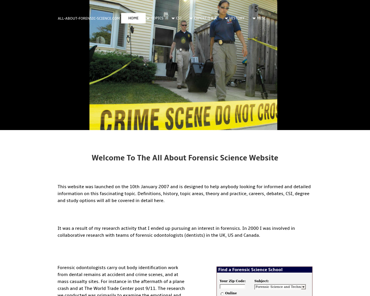 All-About-Forensic-Science-Advertising-Reviews-Pricing