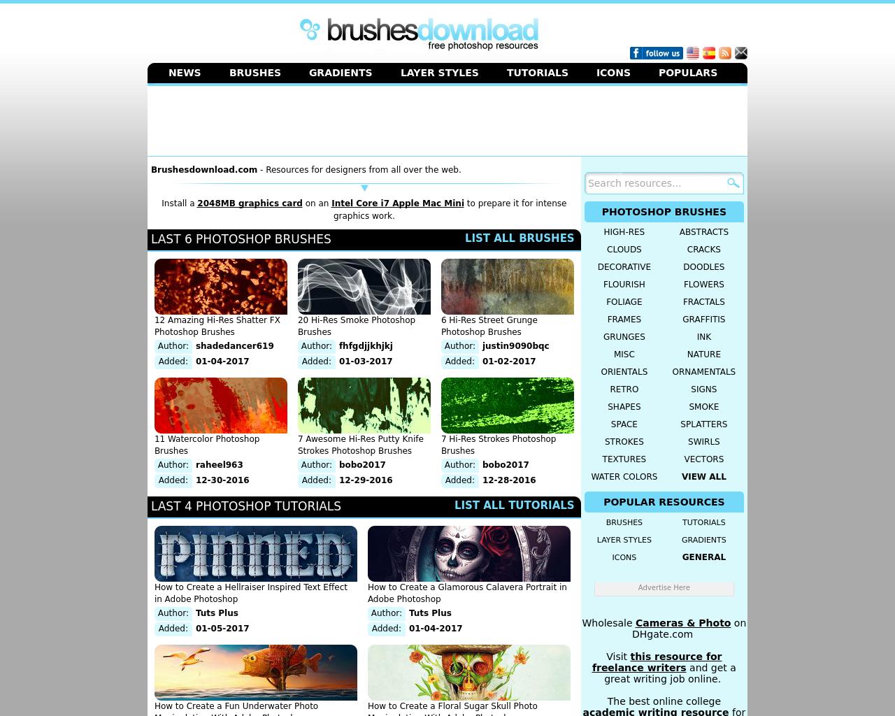 Brushesdownload-Advertising-Reviews-Pricing