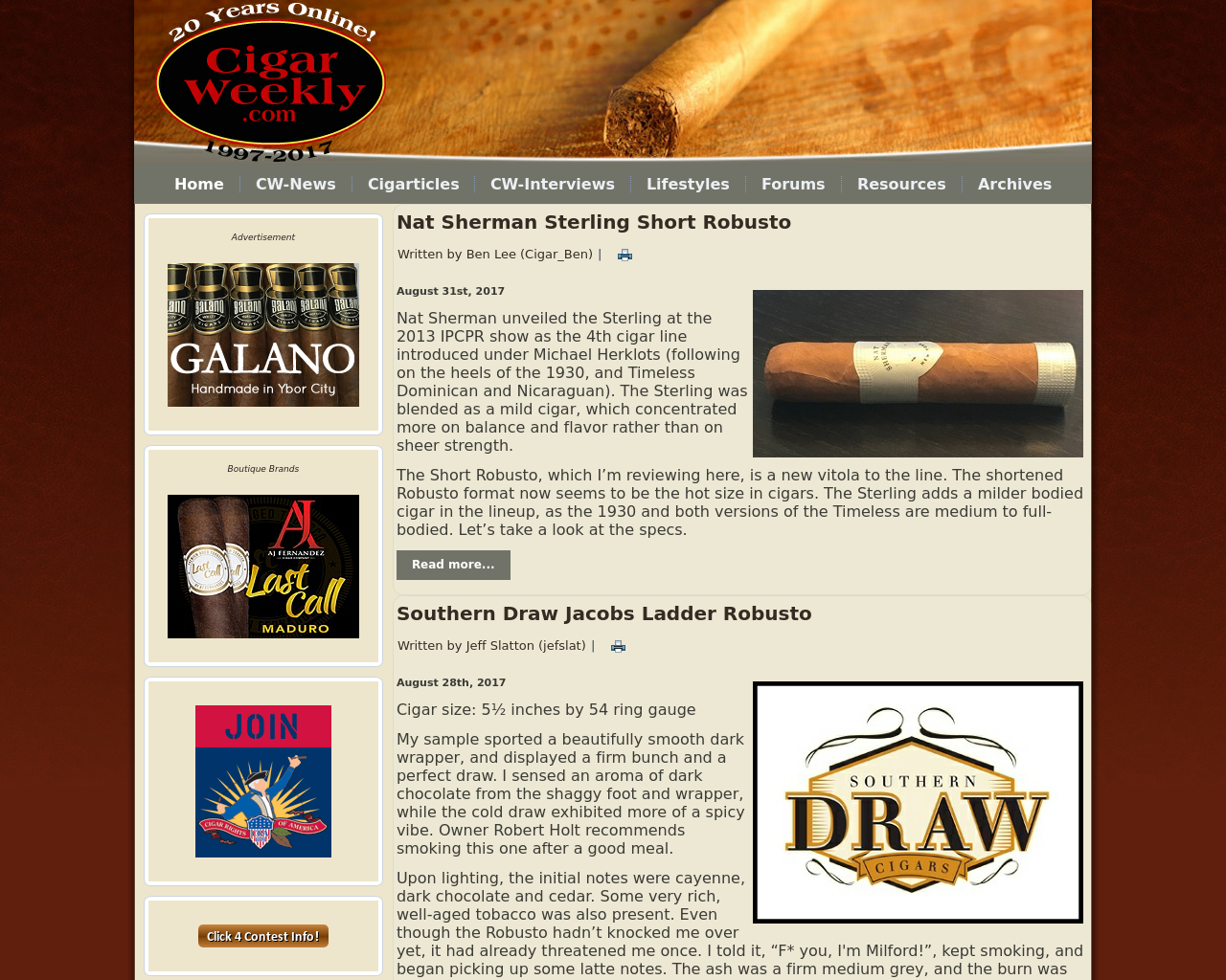 Cigar-Weekly-Advertising-Reviews-Pricing