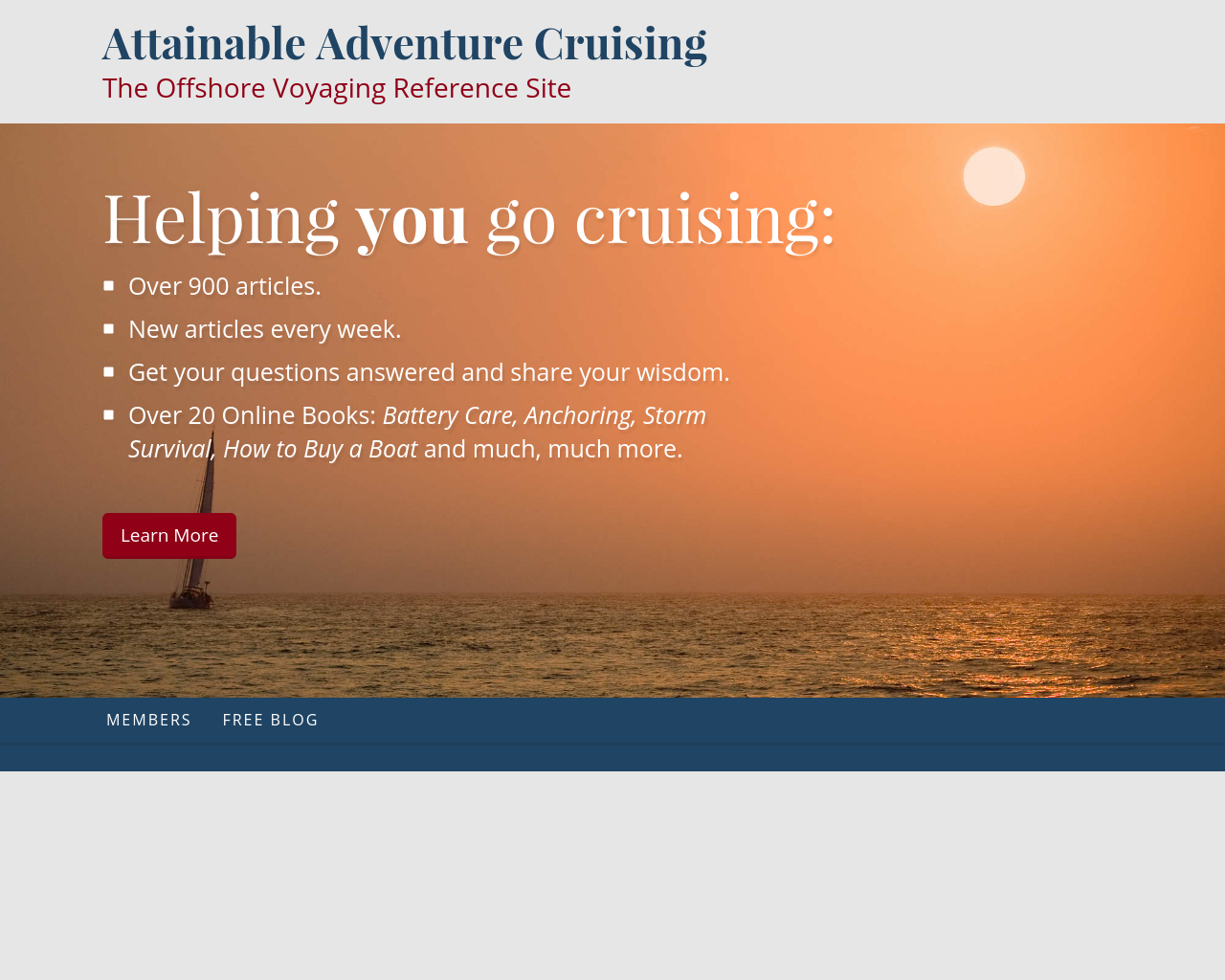 Attainable-Adventure-Cruising--The-Offshore-Voyaging-Reference-Site-Advertising-Reviews-Pricing
