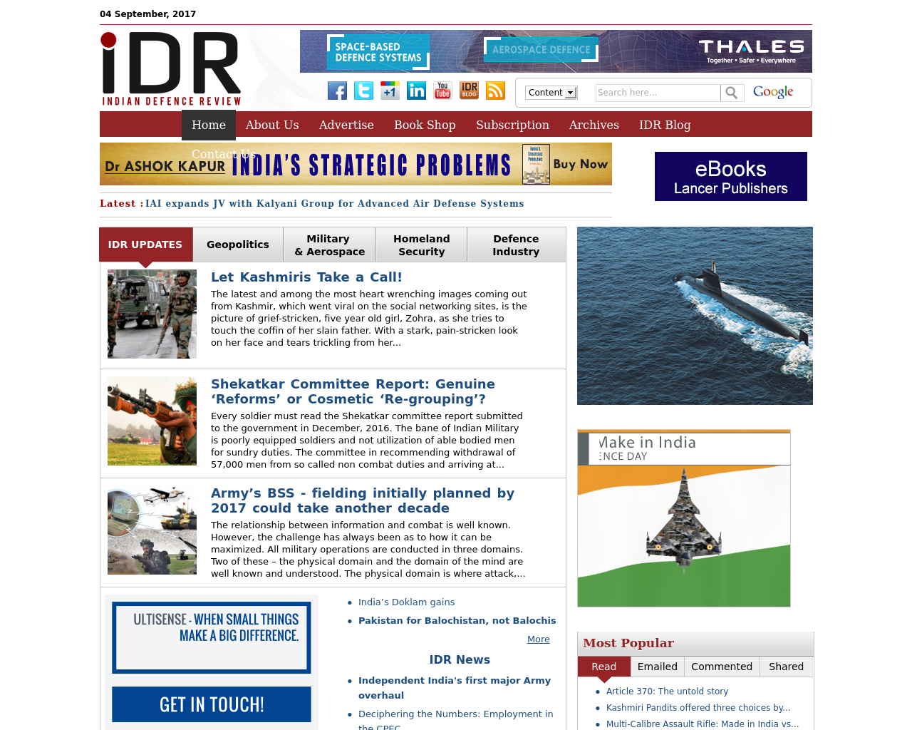 Indian-Defence-Review-Advertising-Reviews-Pricing